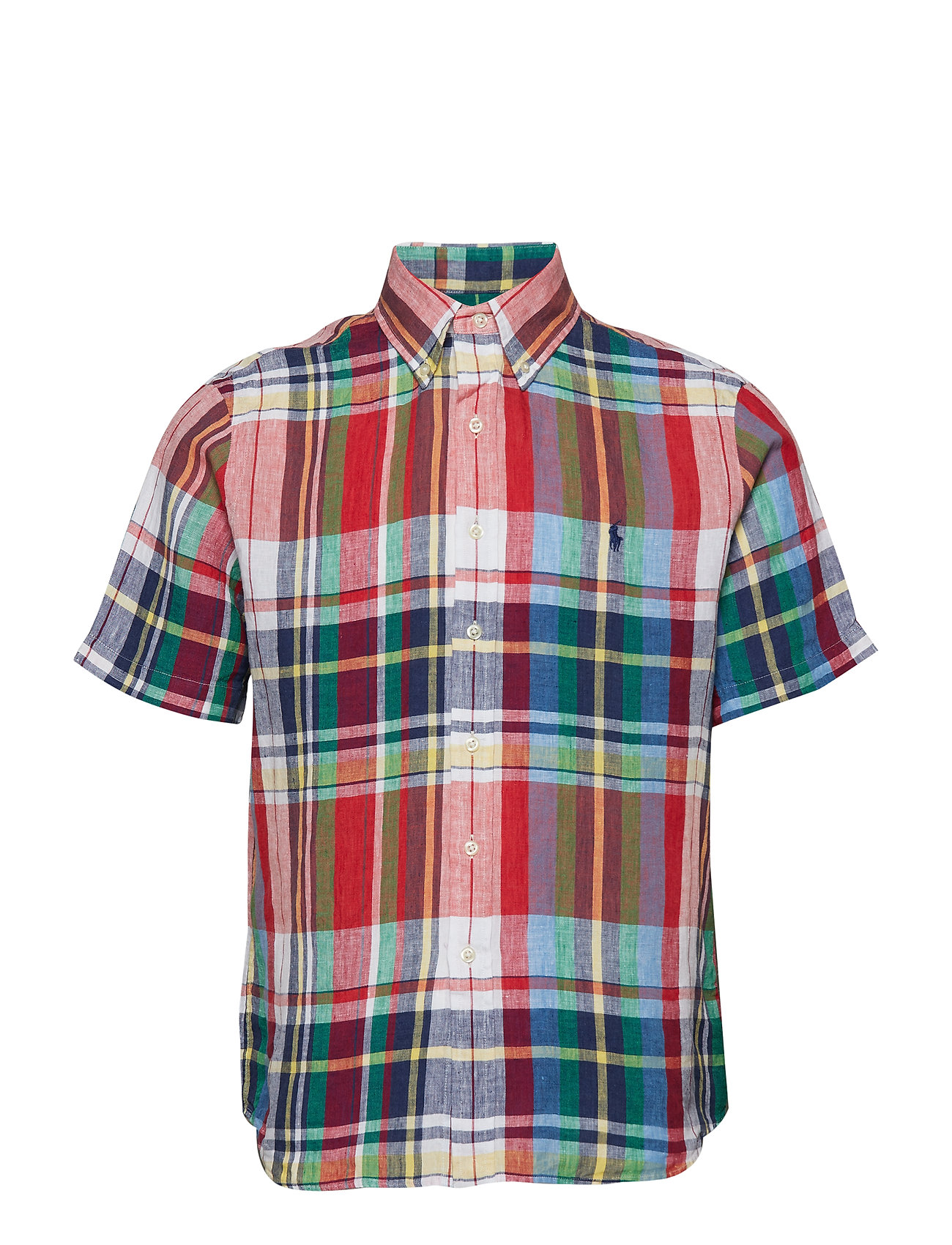 Polo Ralph Lauren Classic Fit Linen Shirt - 3310 APPLE/NAVY M