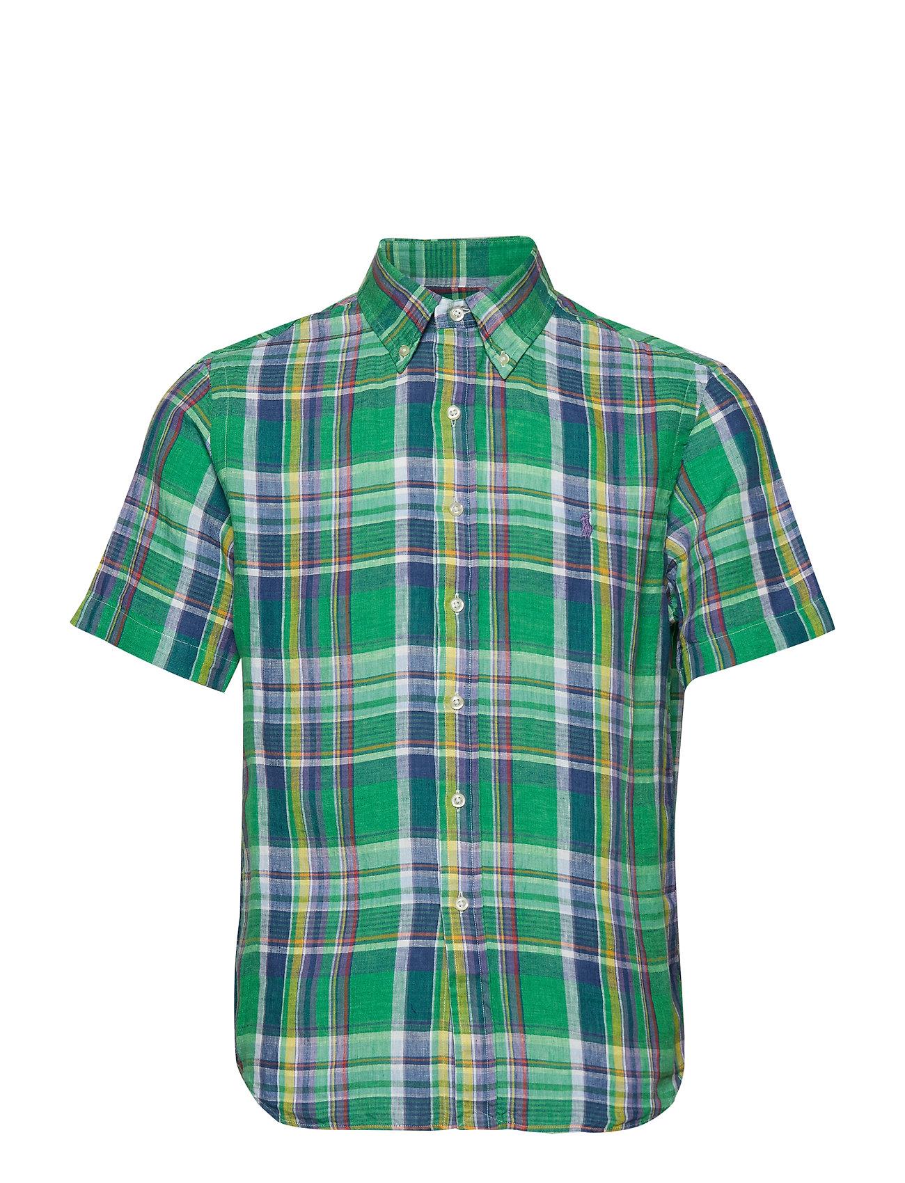 Polo Ralph Lauren Classic Fit Linen Shirt - 3312 FOREST/YELLO
