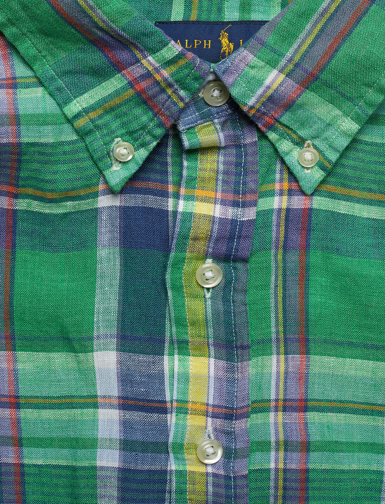 Classic Fit Linen Shirt (3312 Forest/yello) (518 kr) - Polo Ralph Lauren