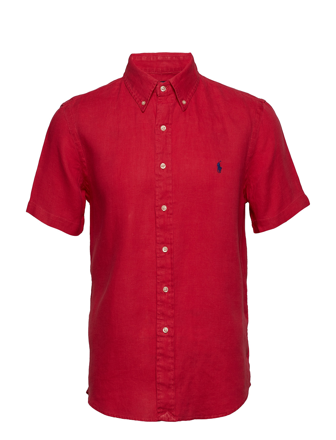 Polo Ralph Lauren Classic Fit Linen Shirt - BERMUDA RED