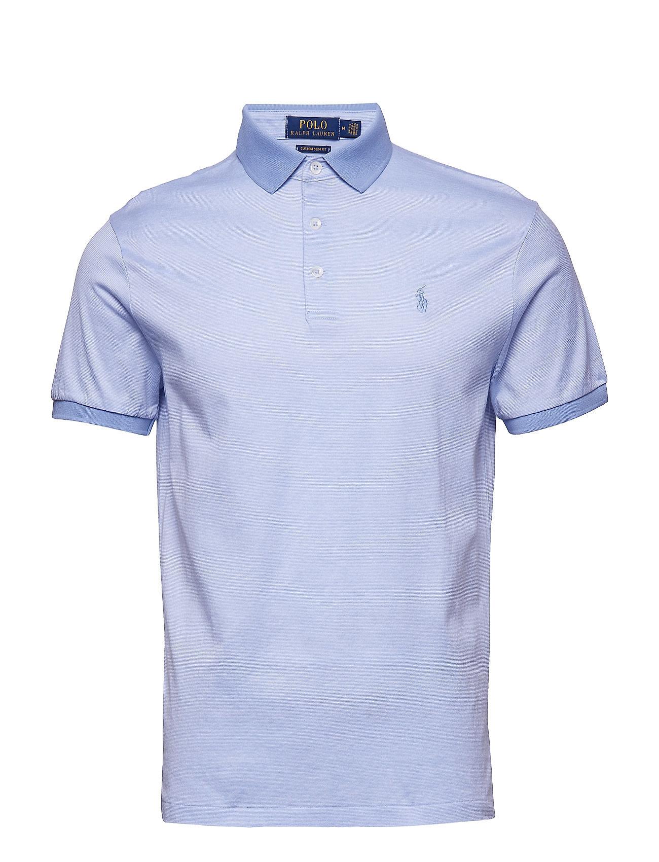 Sskccmslm2-short Sleeve-knit (Dress Shirt Blue ) (£109) - Polo Ralph ... 96f4e2238eaf