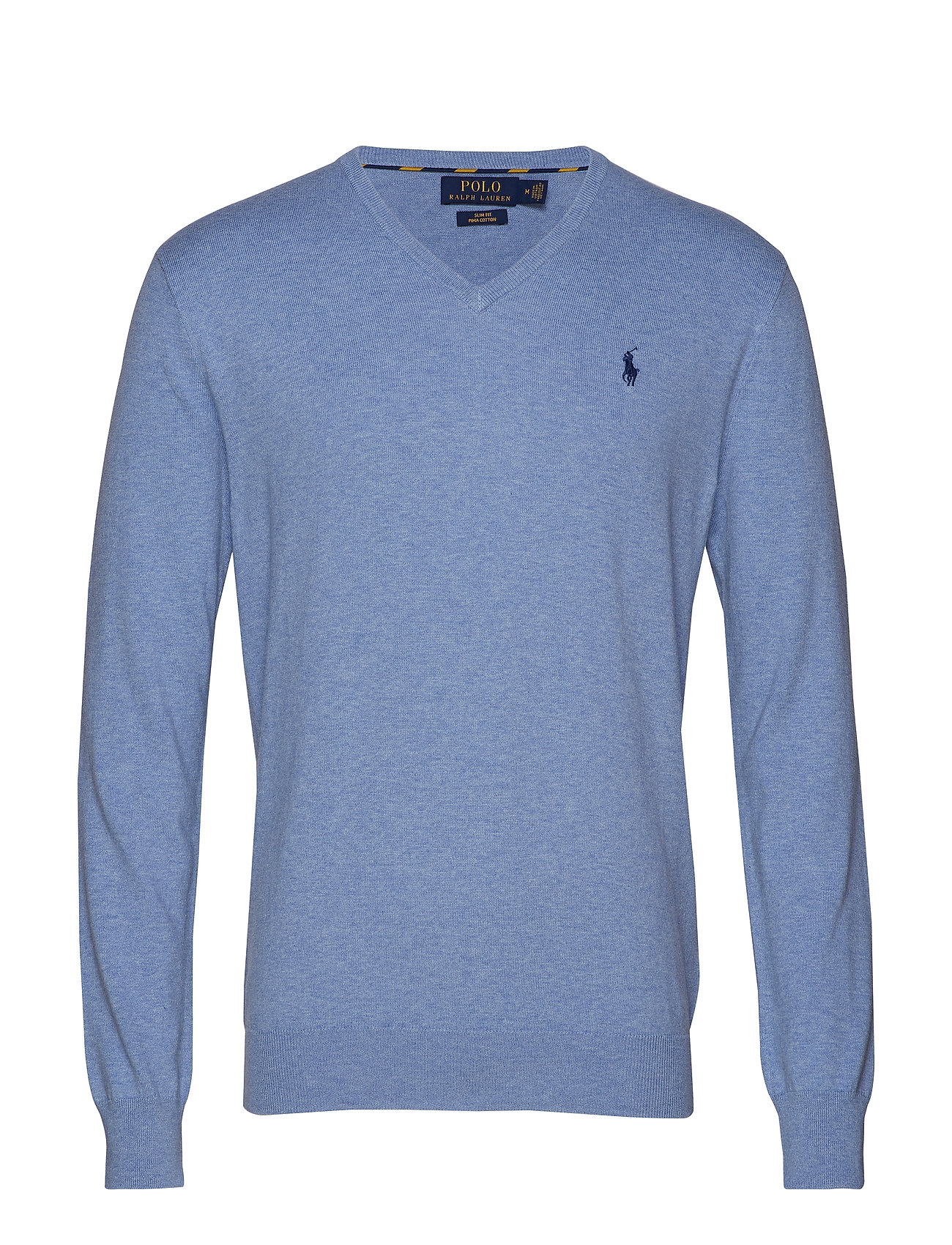 Polo Ralph Lauren Slim Fit Cotton V-Neck Sweater - NEW CAMPUS BLUE H
