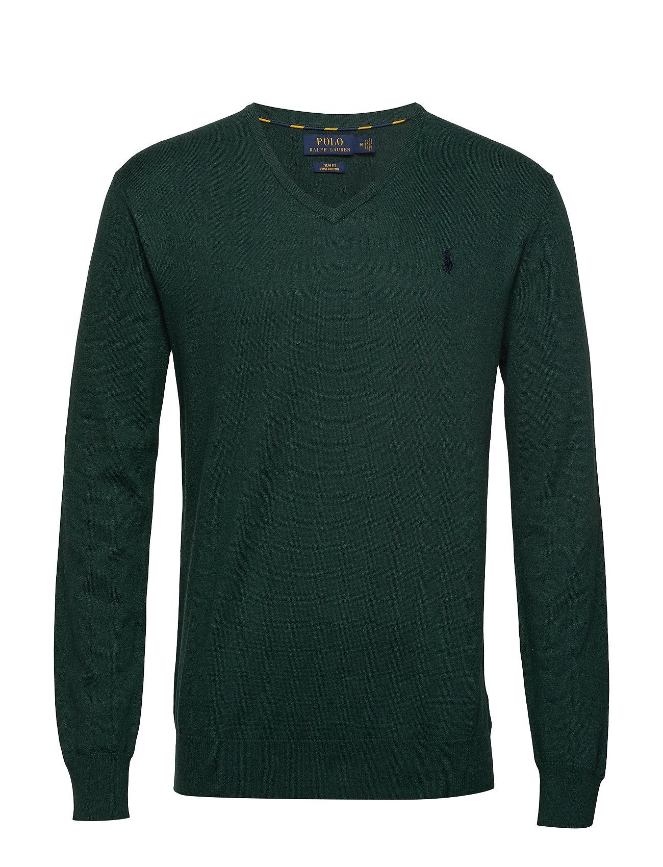 Polo Ralph Lauren Slim Fit Cotton V-Neck Sweater - SCOTCH PINE HEATH