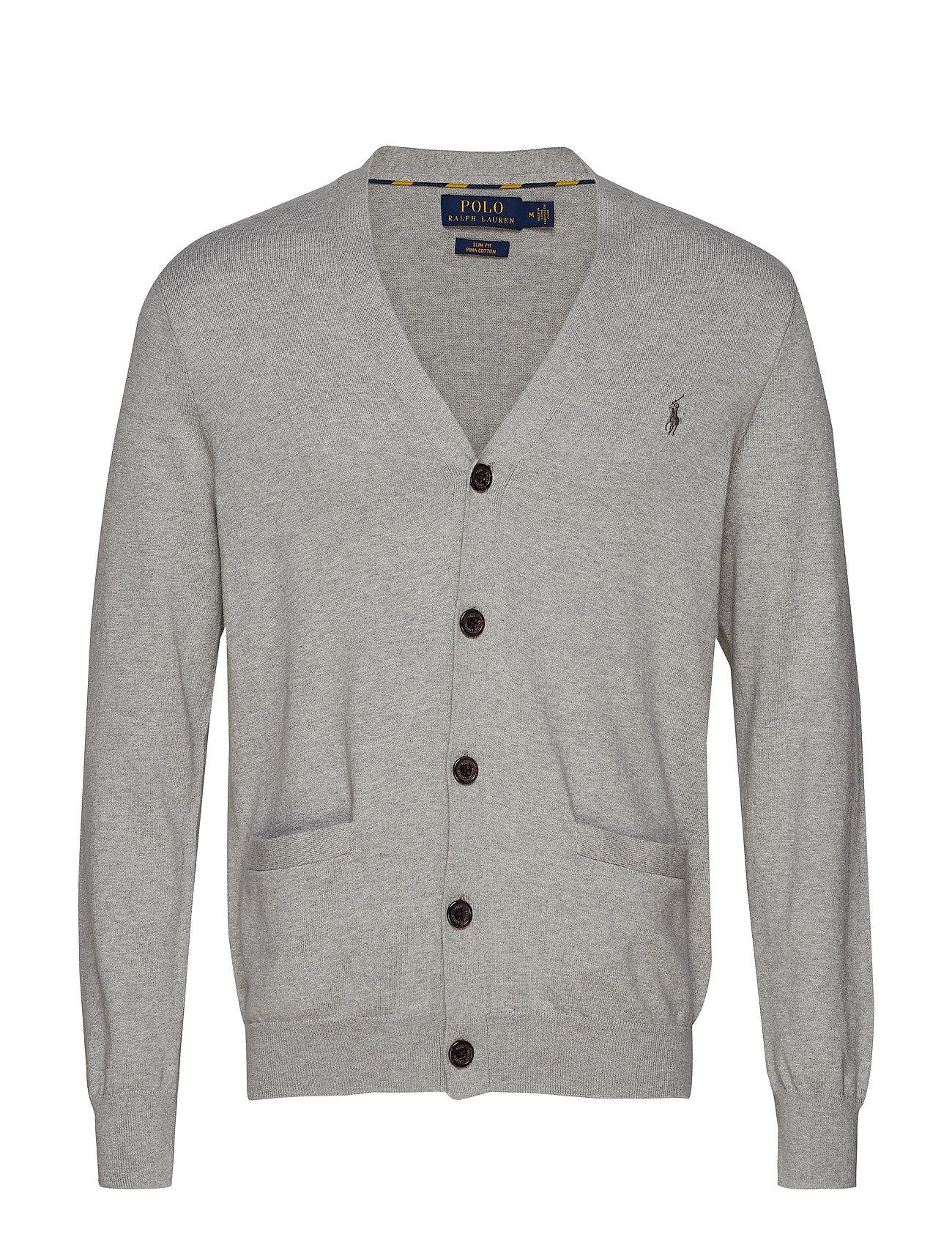 Polo Ralph Lauren Slim Fit Cotton Cardigan - ANDOVER HEATHER
