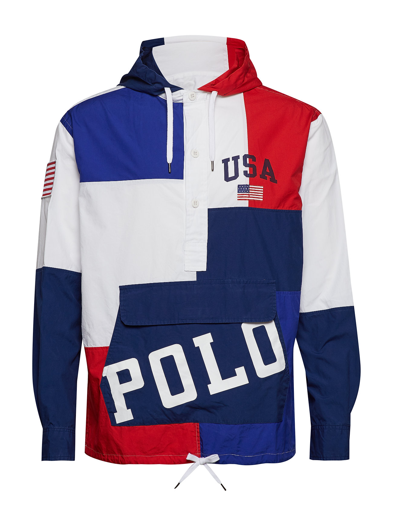 Polo Ralph Lauren Custom Fit Hooded Popover - 4188 USA COLORBLO