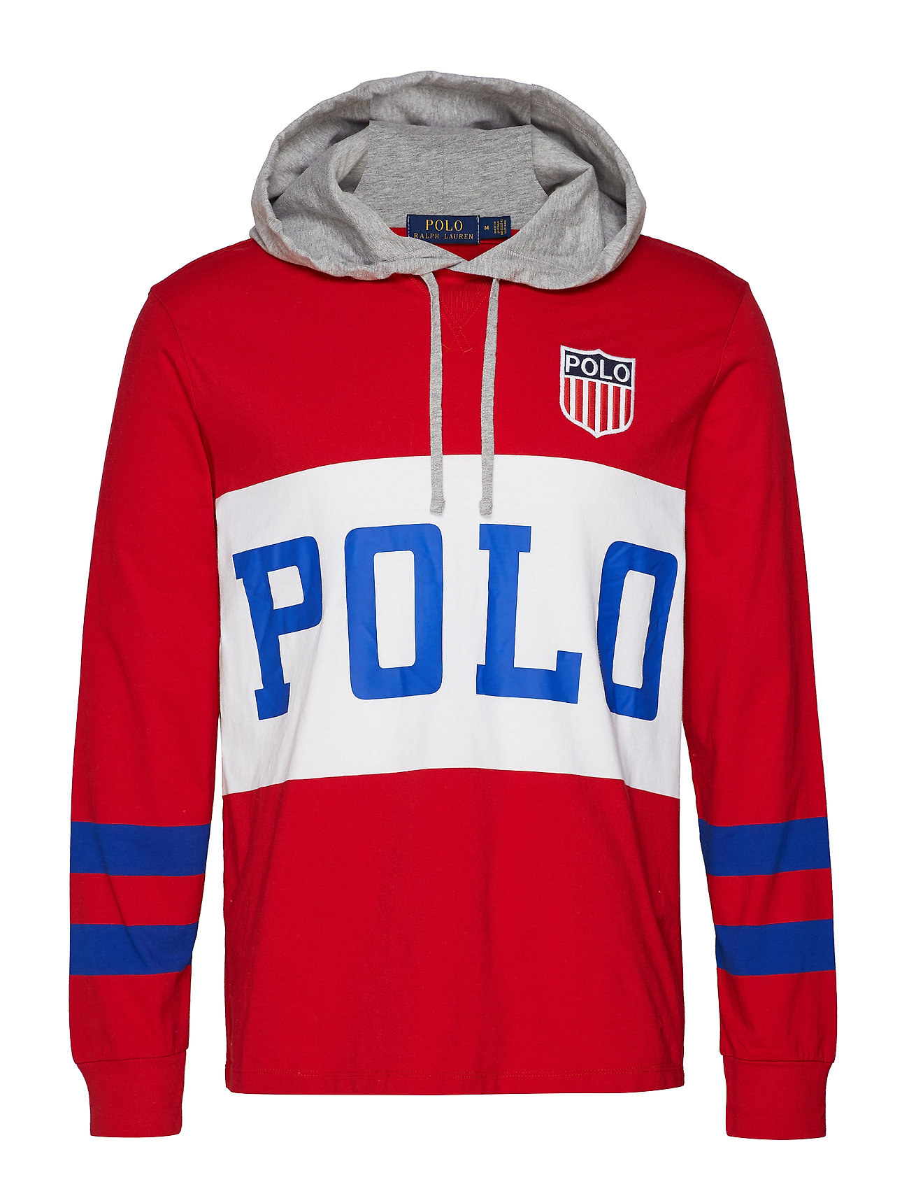 Polo Ralph Lauren Cotton Jersey Hooded Tee - RL 2000 RED MULTI
