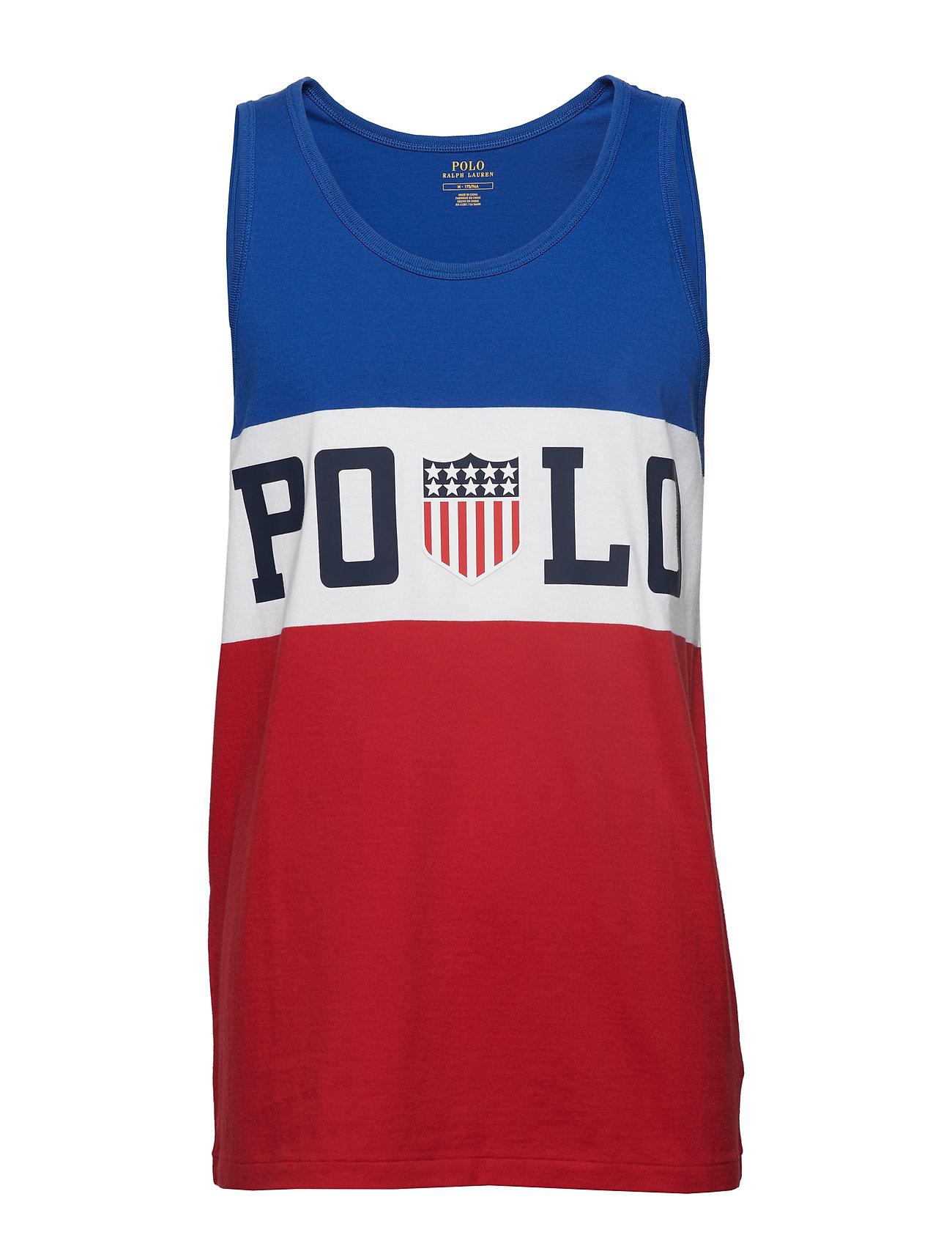 Polo Ralph Lauren Cotton Jersey Graphic Tank - SAPPHIRE STAR MUL