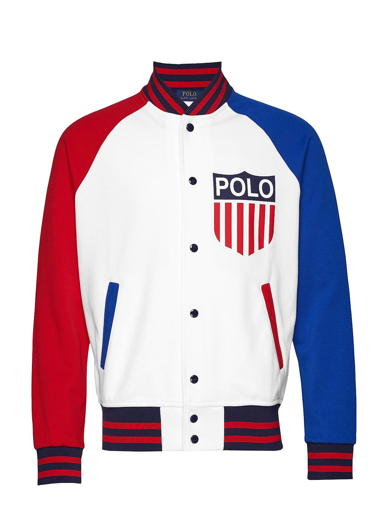 Polo Ralph Lauren Polo Shield Baseball Jacket - WHITE MULTI