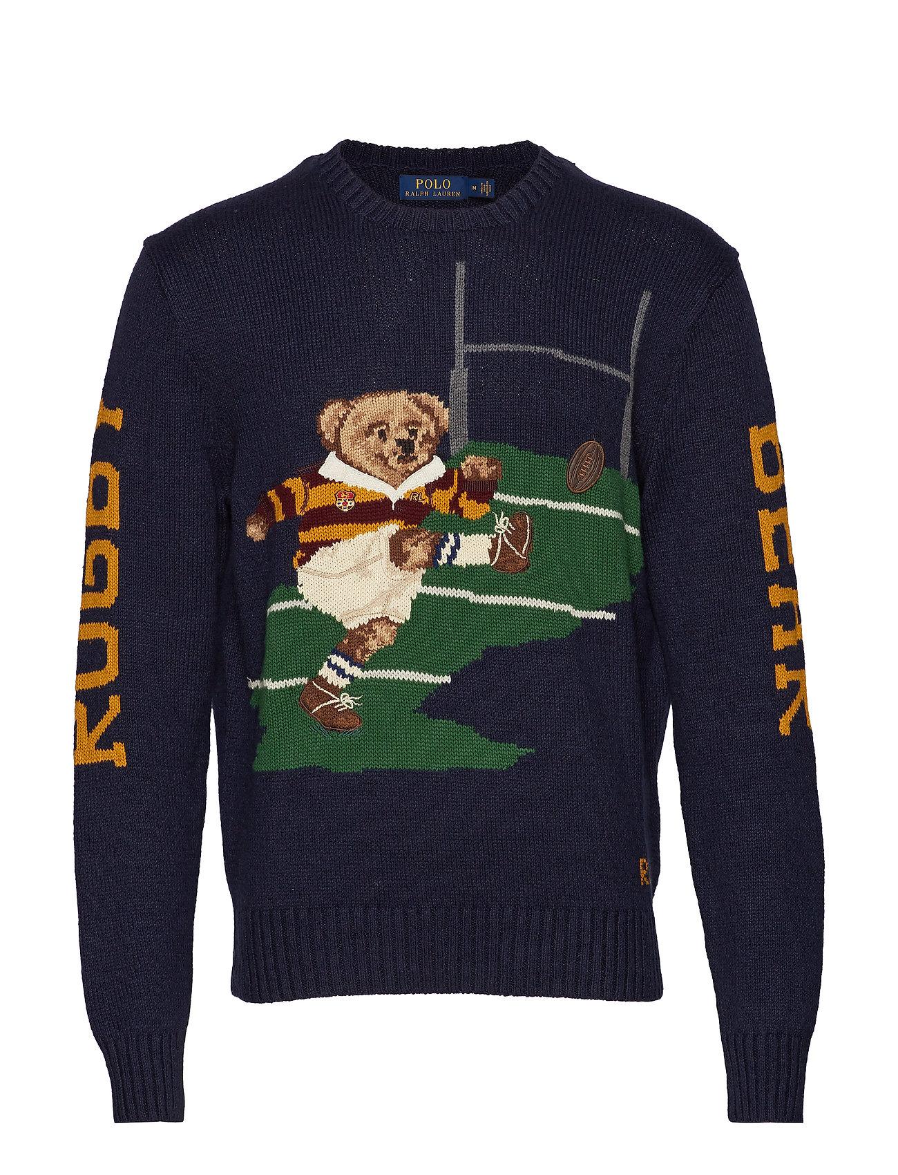 Polo Ralph Lauren Rugby Bear Sweater - NAVY