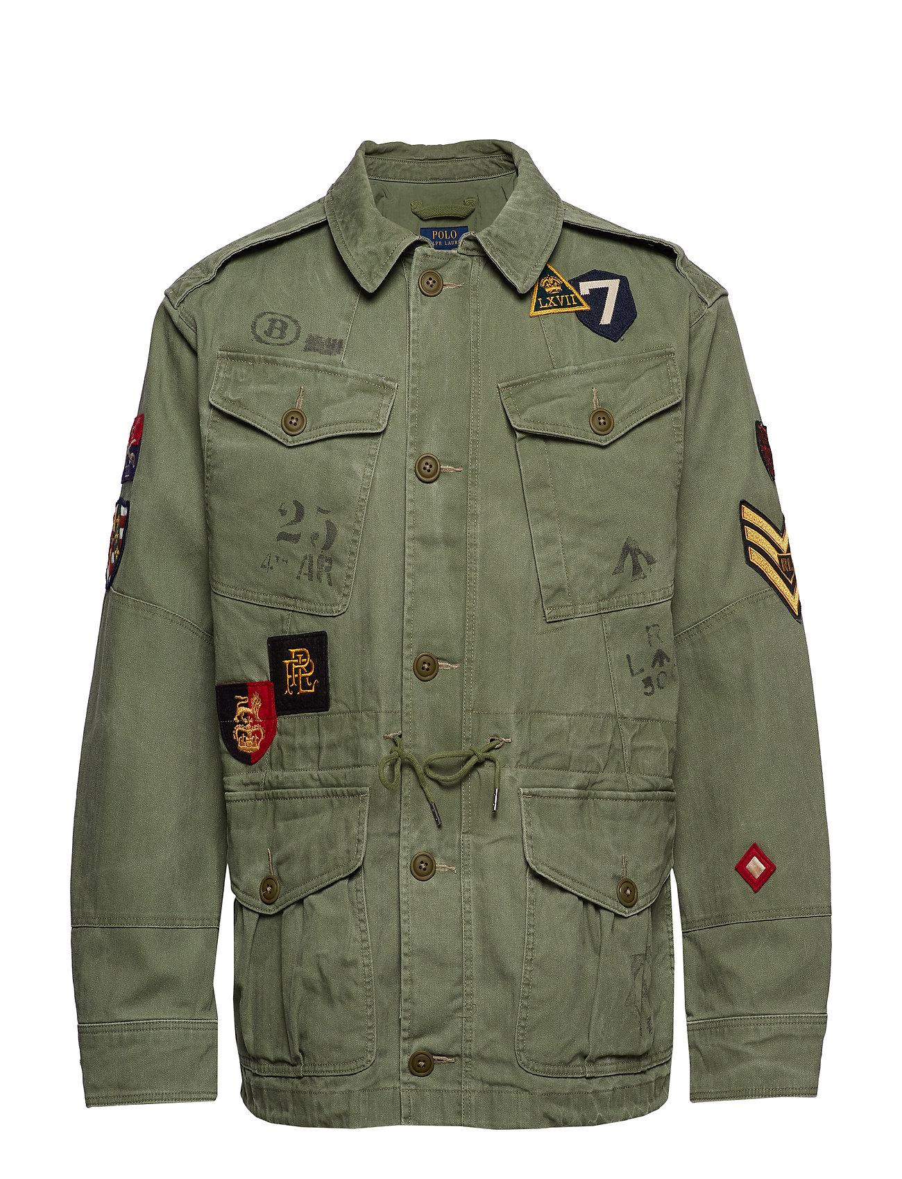 Polo Ralph Lauren Herringbone Twill Jacket - ARMY OLIVE