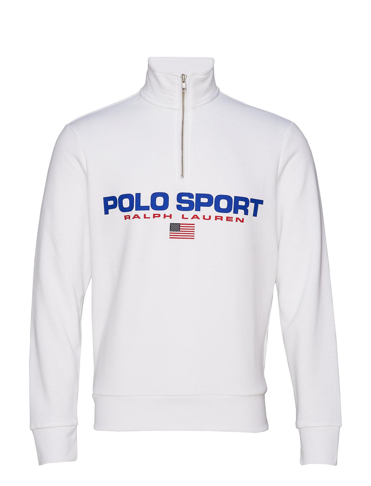 Half zip Lauren Polo SweatshirtwhiteRalph Sport bf67yg