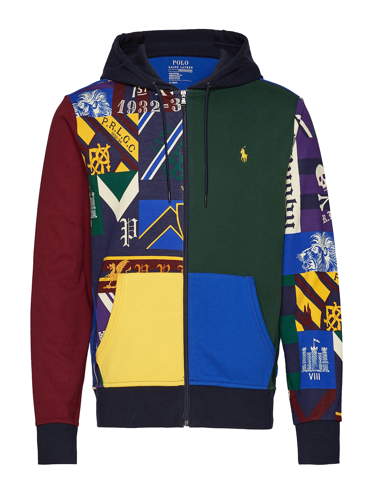Polo Ralph Lauren Patchwork Double-Knit Hoodie - COLLEGIATE PATCHW