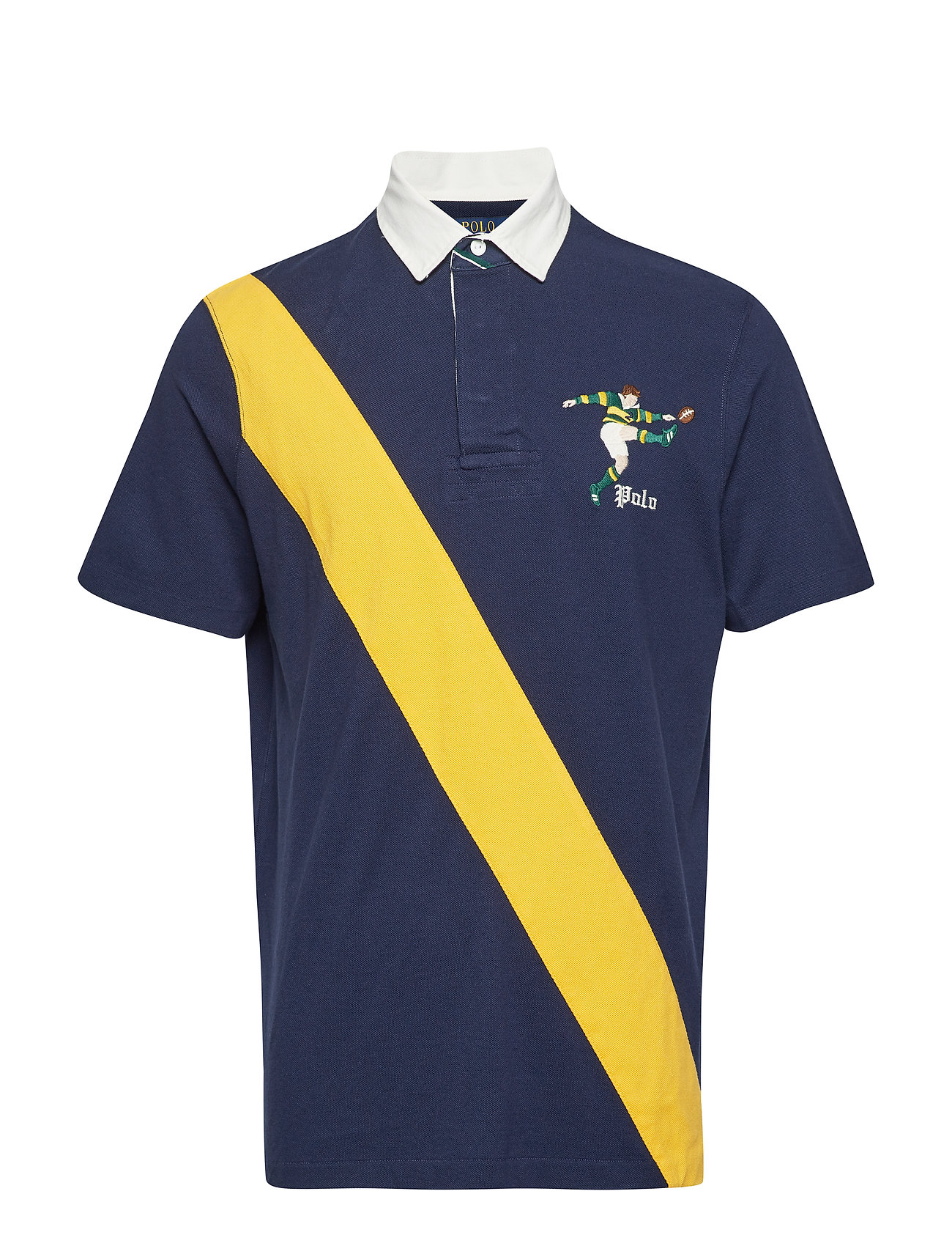 Polo Ralph Lauren Classic Fit Mesh Rugby Shirt - CRUISE NAVY MULTI