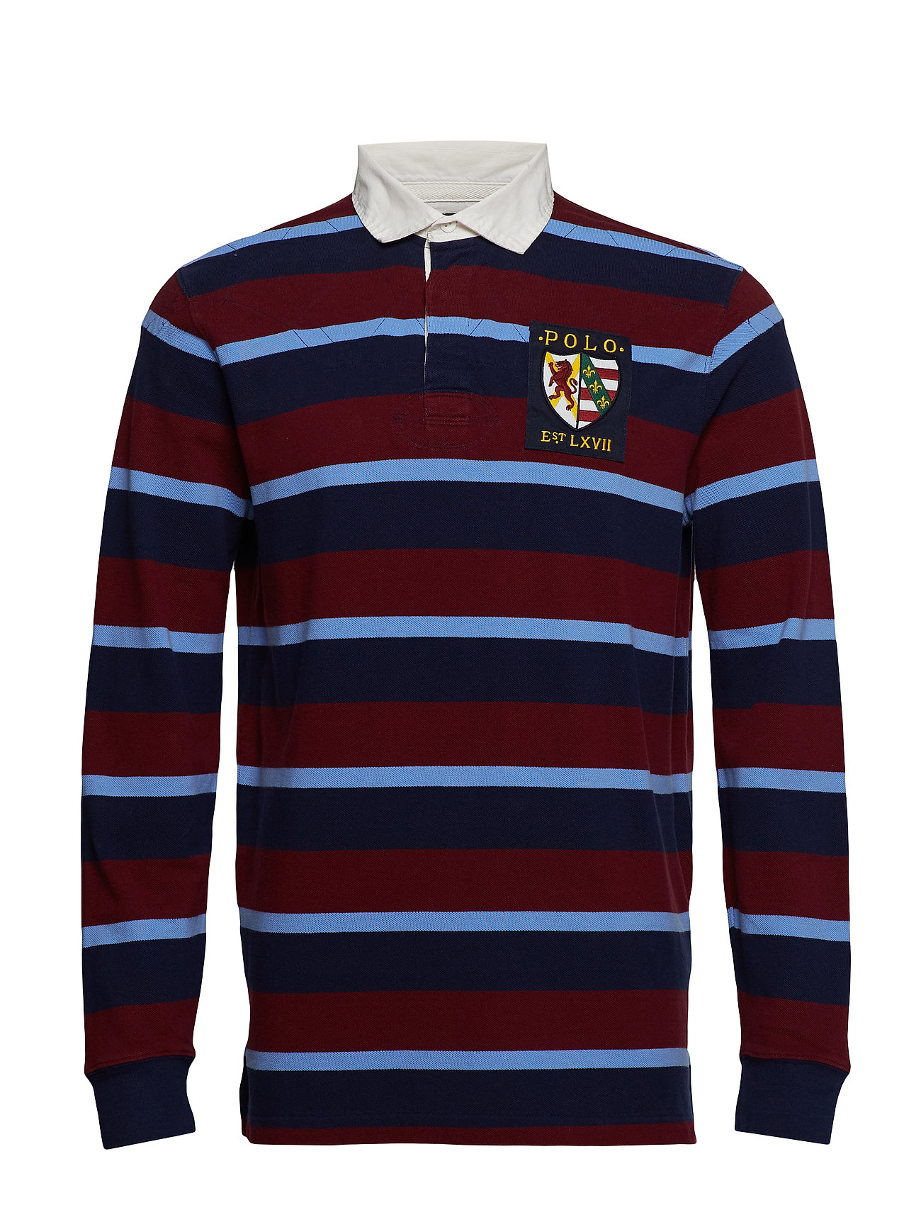 Polo Ralph Lauren Classic Fit Cotton Mesh Rugby - CLASSIC WINE MULT