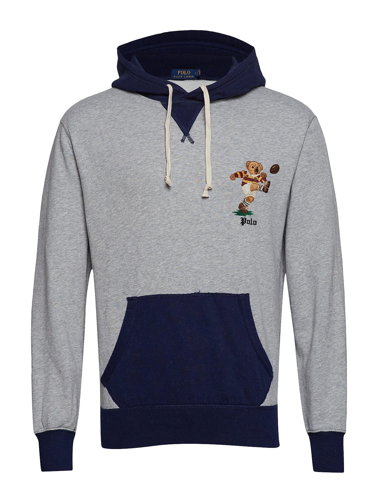 Polo Ralph Lauren Rugby Bear Fleece Hoodie - ANDOVER HEATHER