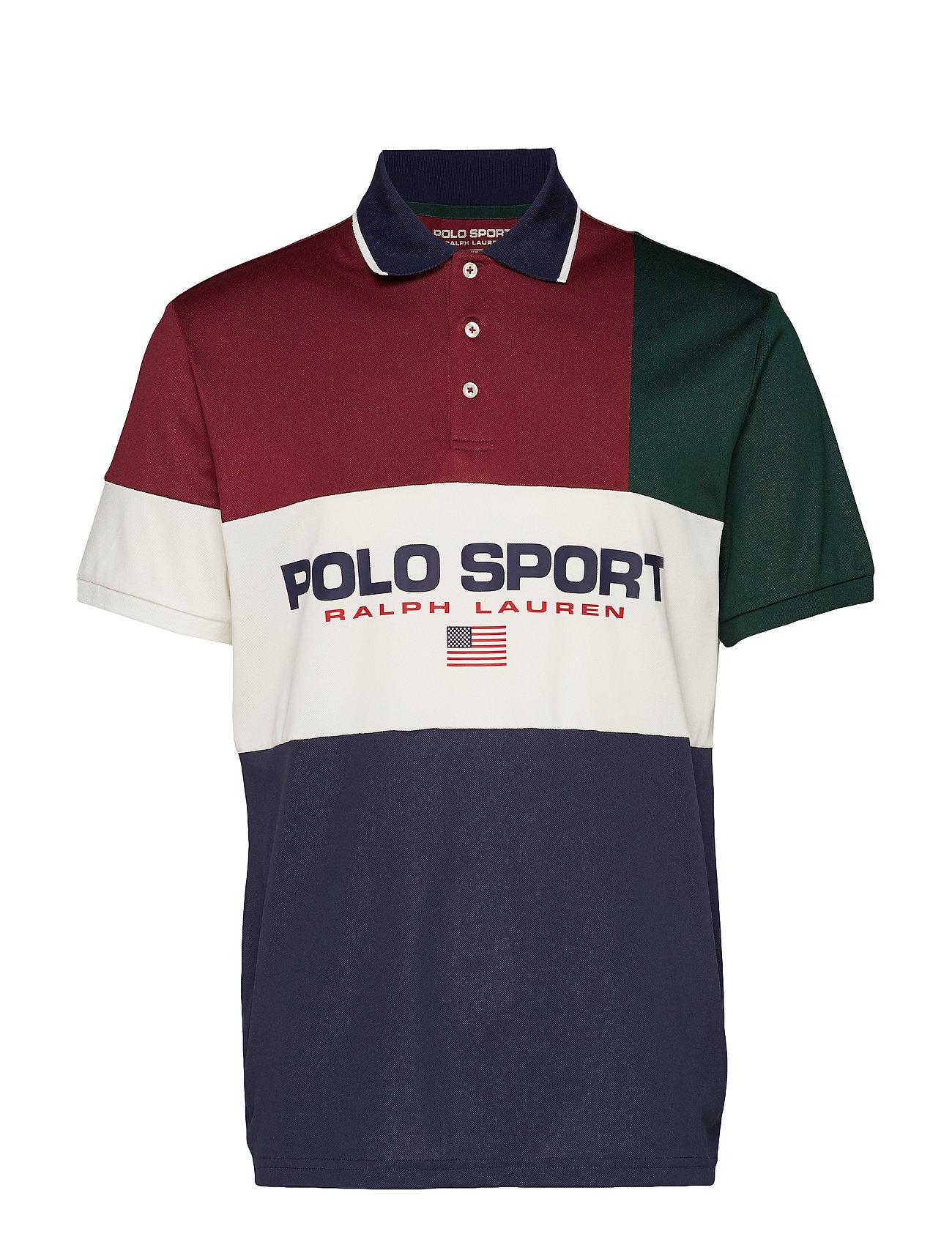 Polo Ralph Lauren Classic Fit Tech Piqué Polo - CLASSIC WINE MULT