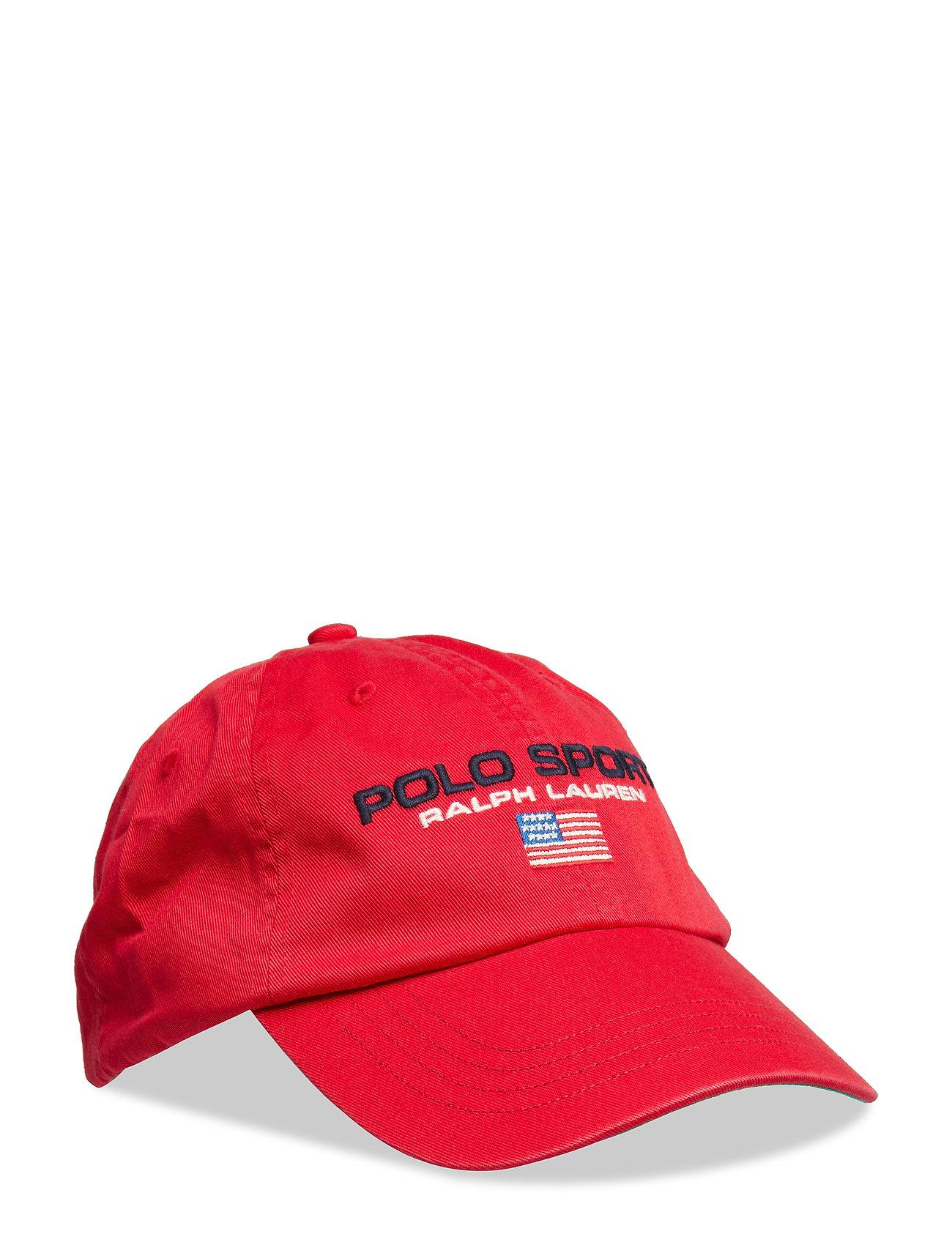 Polo Ralph Lauren Flag Cotton Chino Cap - RL 2000 RED W/ PO