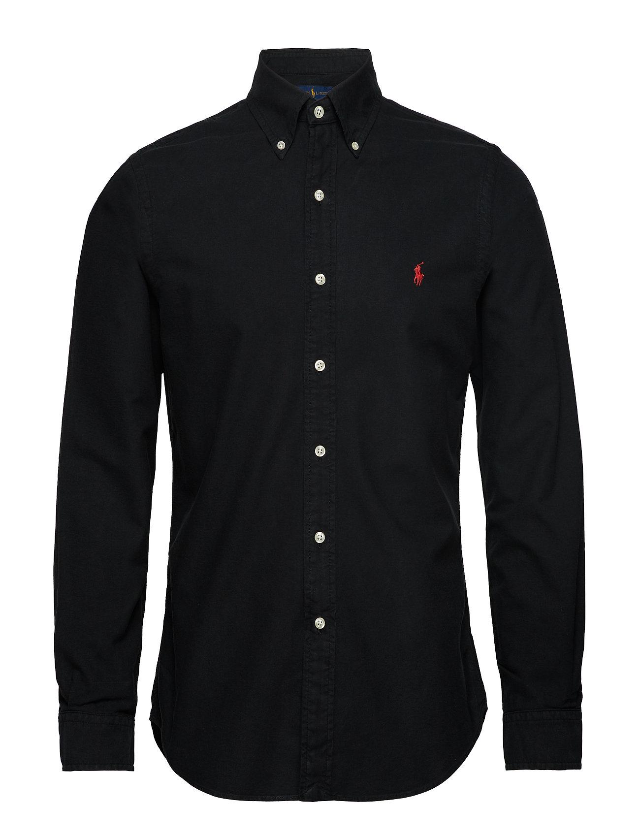 Polo Ralph Lauren Slim Fit Cotton Oxford Shirt - BLACK
