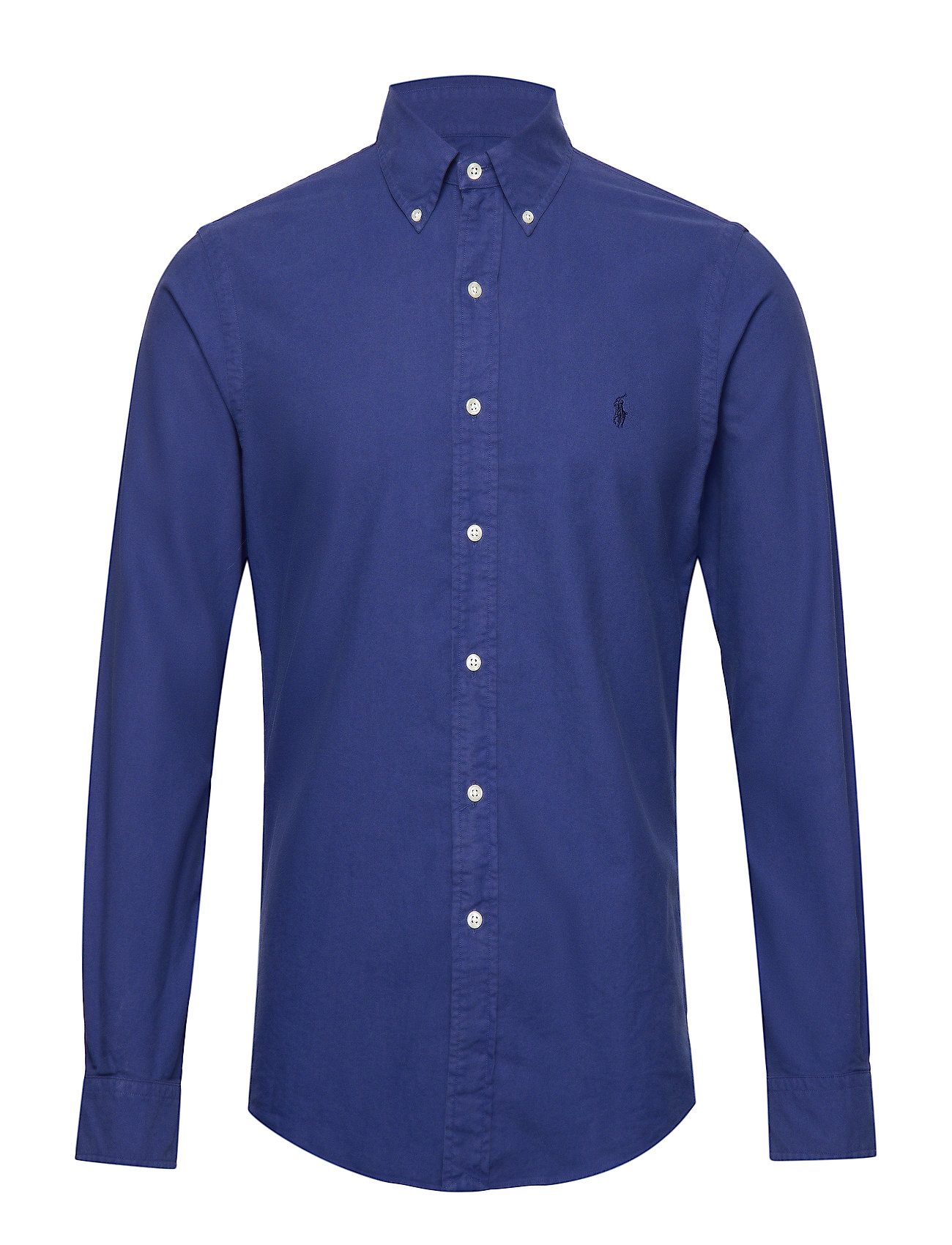 Polo Ralph Lauren Slim Fit Cotton Oxford Shirt - BLUE YACHT