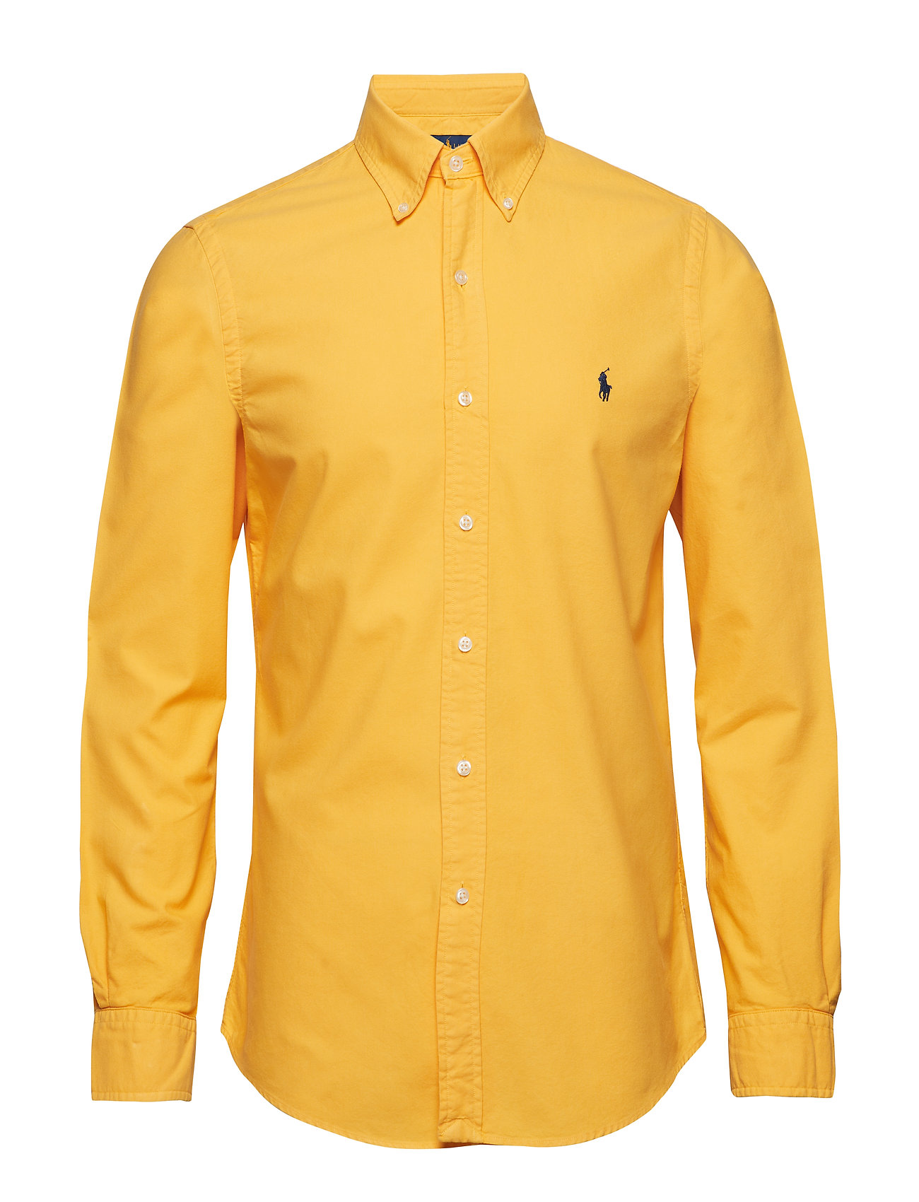 Polo Ralph Lauren Slim Fit Cotton Oxford Shirt - GOLD BUGLE