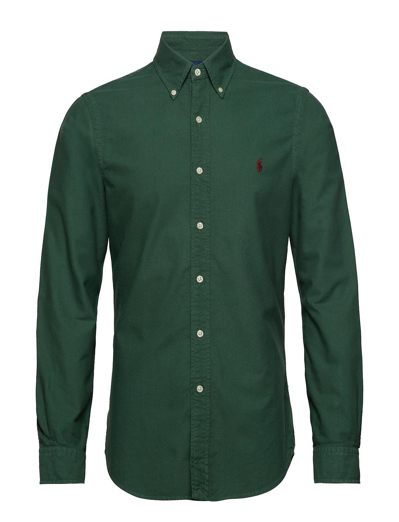 Polo Ralph Lauren Slim Fit Cotton Oxford Shirt - STUART GREEN
