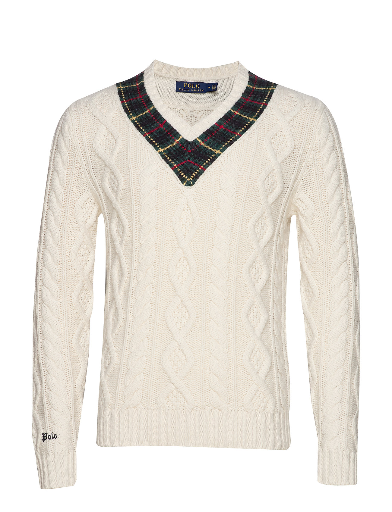 Polo Ralph Lauren LSCRICKETVN-LONG SLEEVE-SWEATER - CREAM WITH PLAID