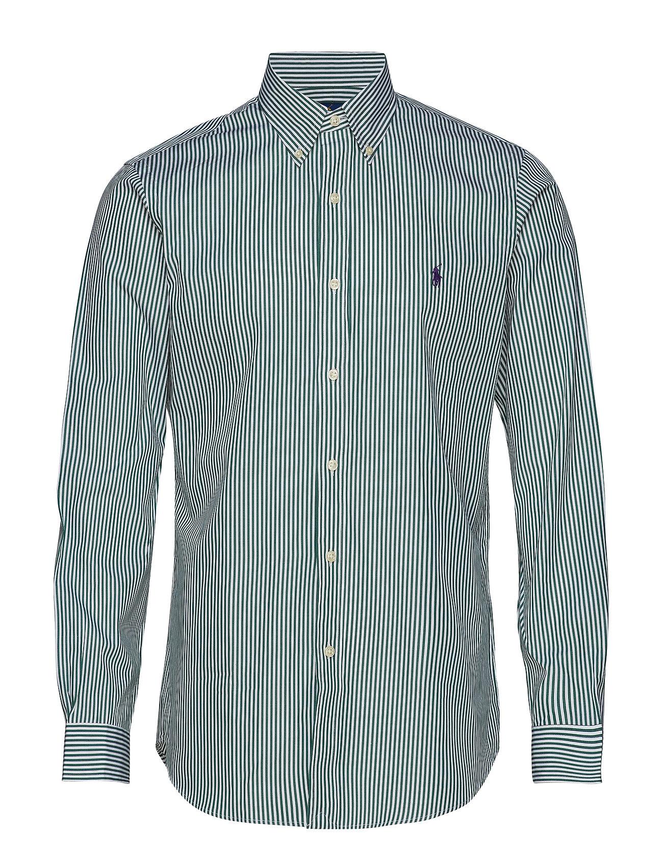 Polo Ralph Lauren Custom Fit Plaid Stretch Shirt - 4034B GREEN/STRIP
