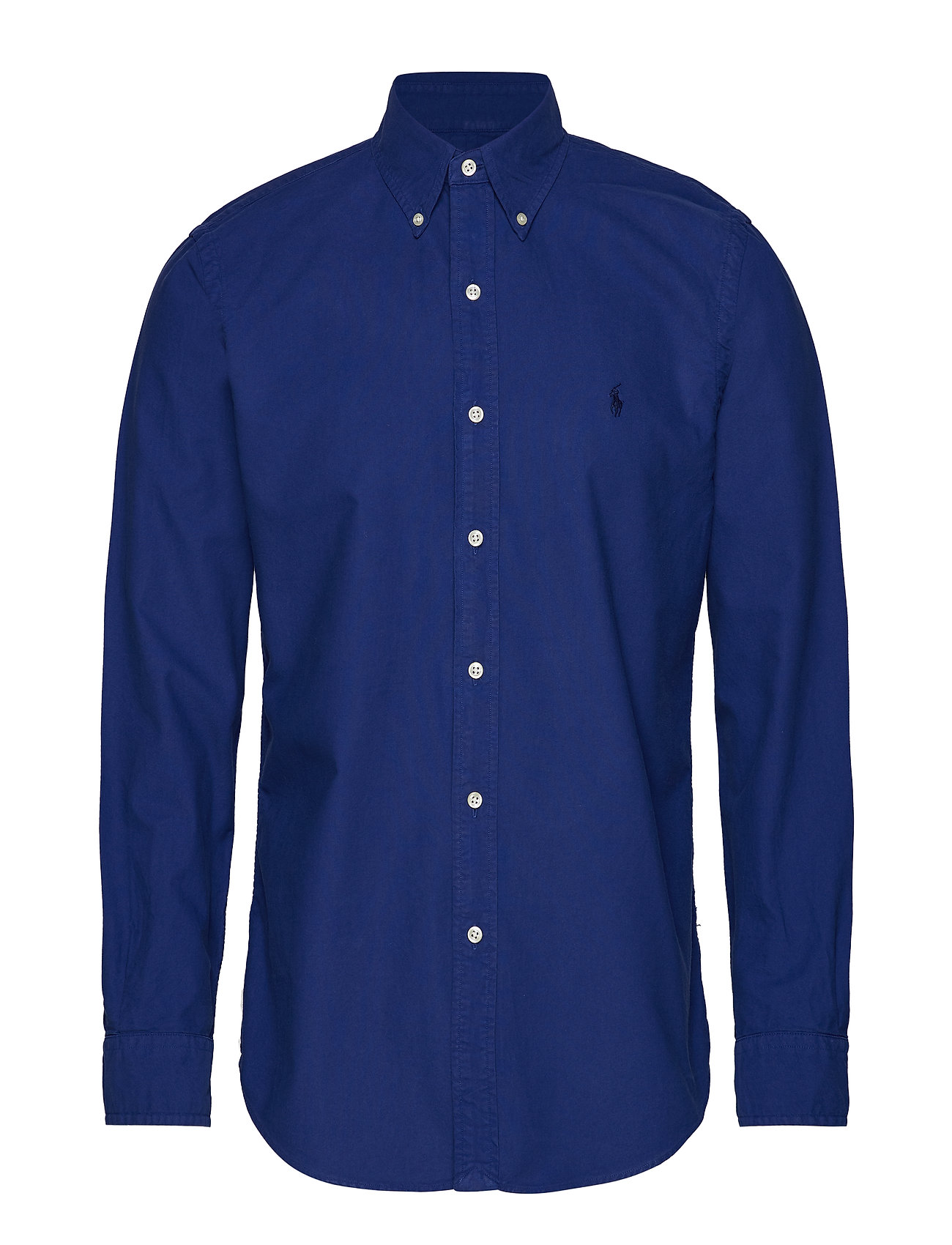 Polo Ralph Lauren Custom Fit Cotton Oxford Shirt - BLUE YACHT