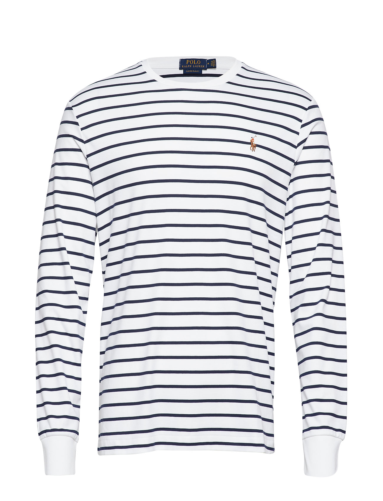 Polo Ralph Lauren Custom Slim Fit Interlock Tee - WHITE/FRENCH NAVY
