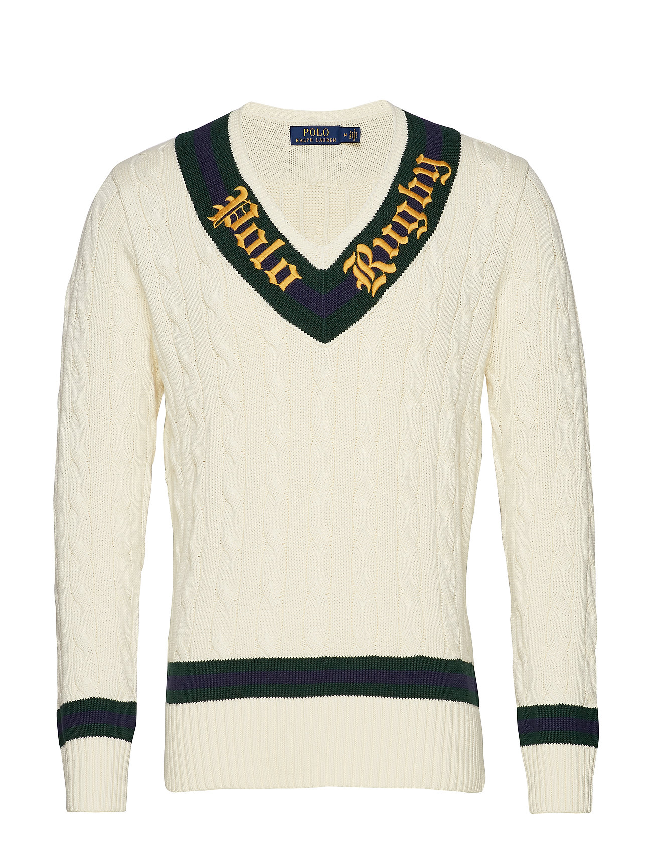 Polo Ralph Lauren Rugby Cricket Sweater - CREAM/FOREST/WINE