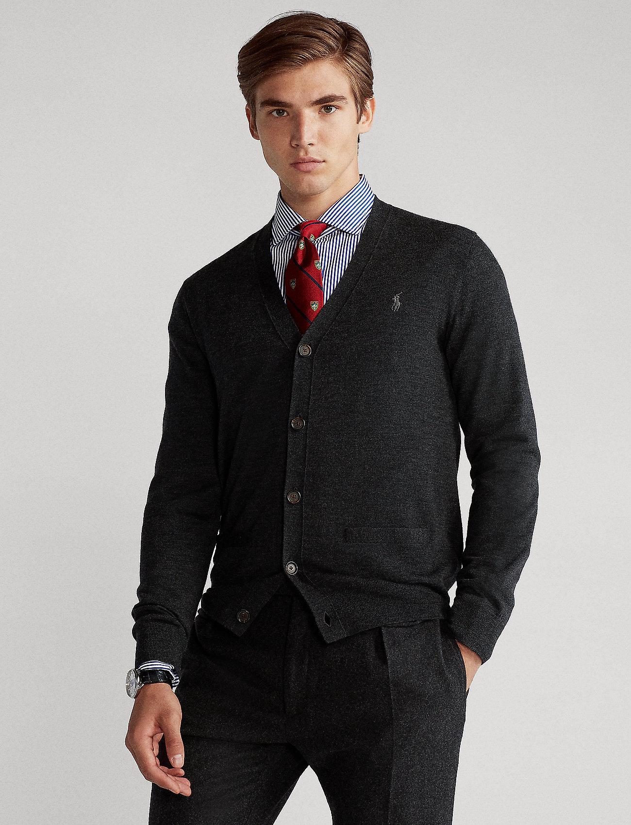 Polo Ralph Lauren - LS SF VN CRD-LONG SLEEVE-SWEATER - stickade basplagg - dark granite heat - 0