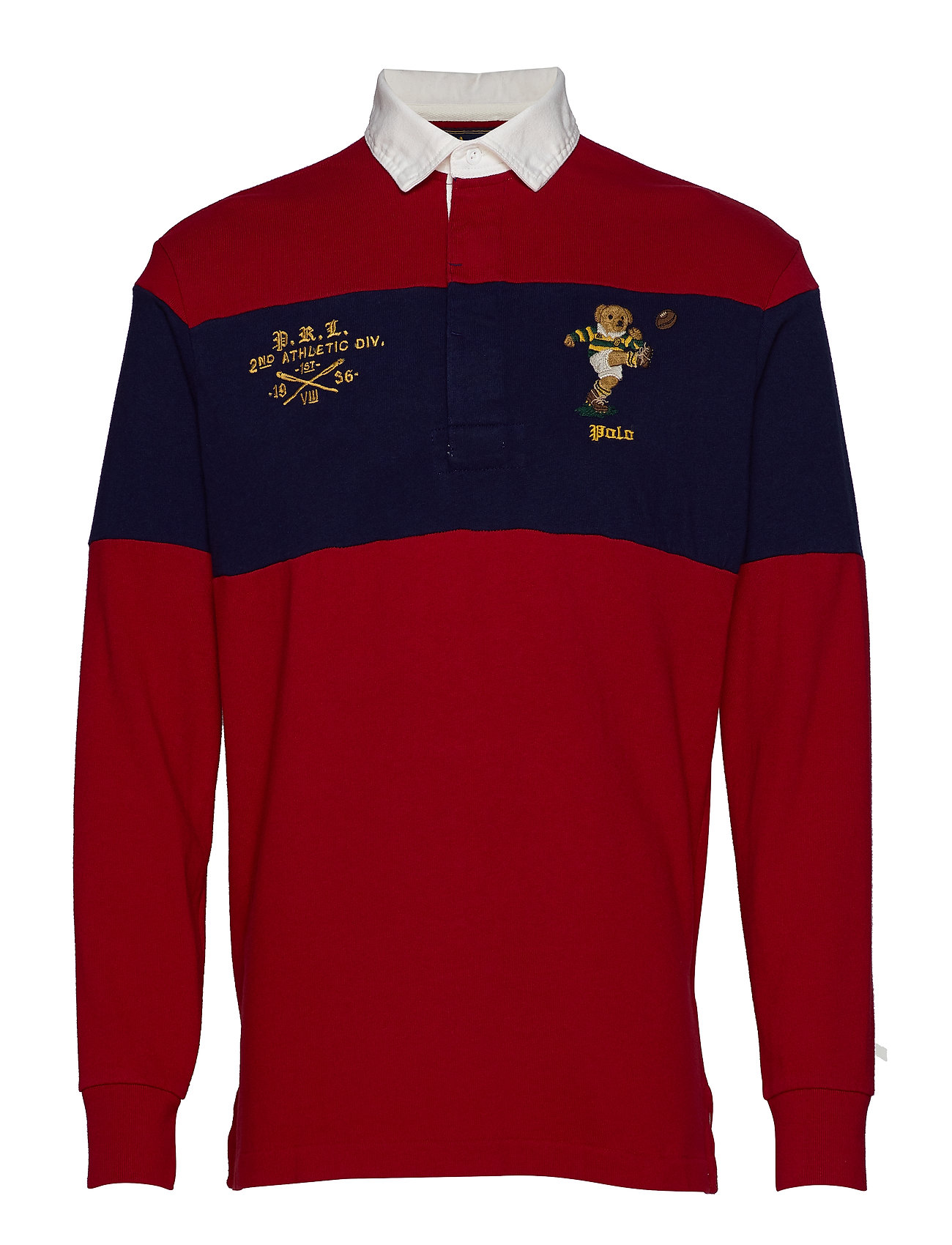 Polo Ralph Lauren LSRUGBYM2-LONG SLEEVE-KNIT - PIONEER RED/CRUIS