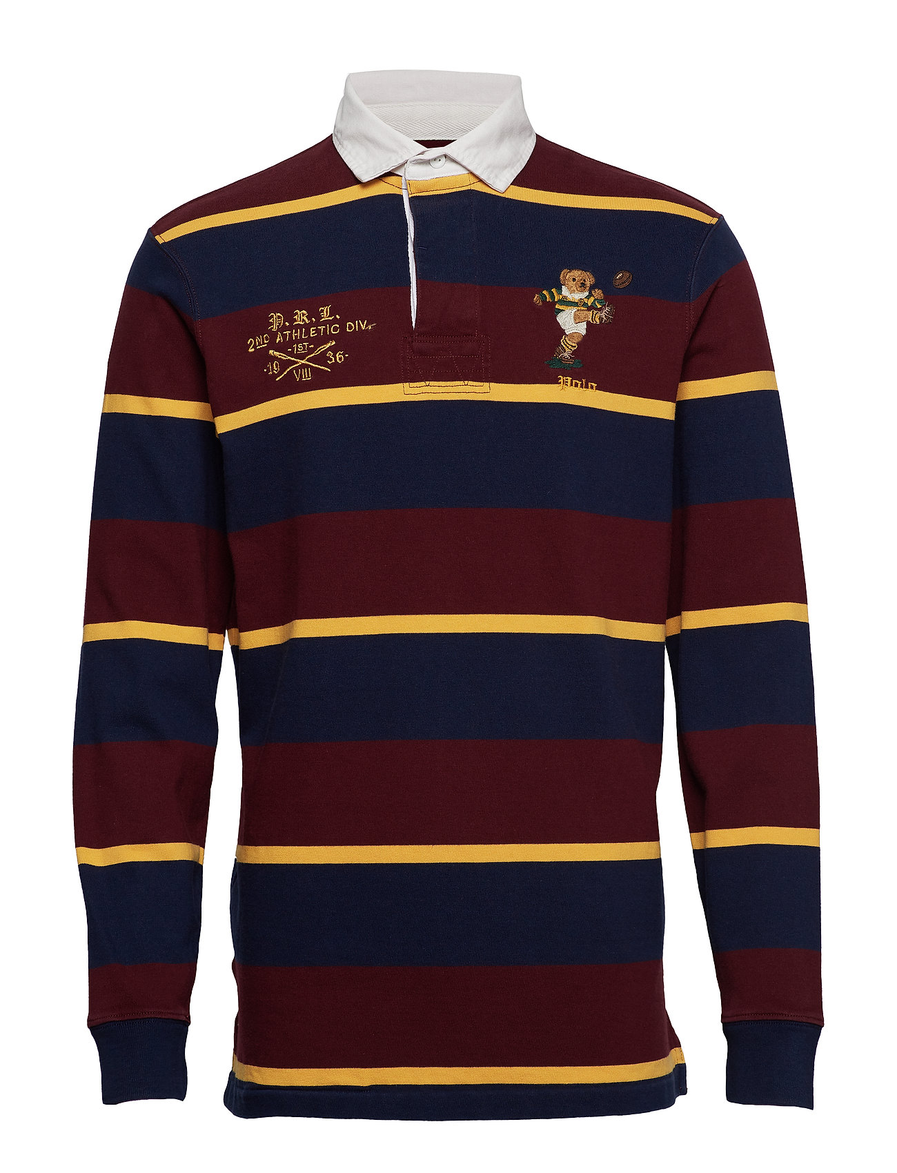 Polo Ralph Lauren LSRUGBYM3-LONG SLEEVE-KNIT - CLASSIC WINE MULT