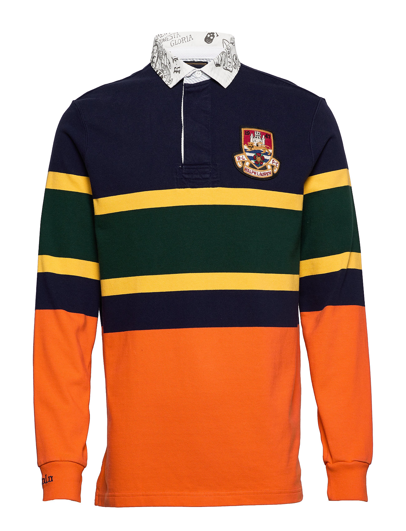 Polo Ralph Lauren LSRUGBYM5-LONG SLEEVE-KNIT - CRUISE NAVY MULTI