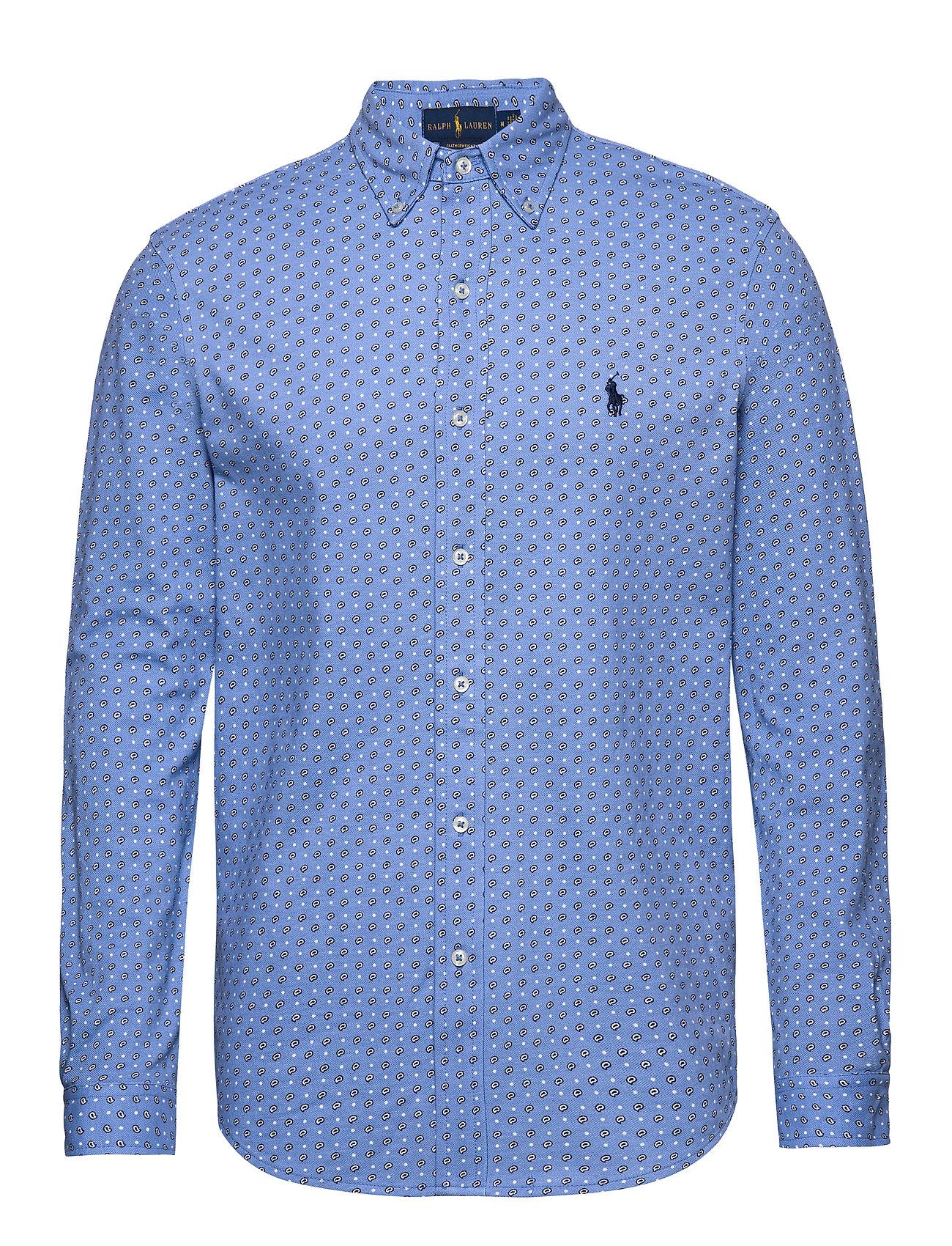 Polo Ralph Lauren Featherweight Mesh Shirt - BLUE FOULARD DOT