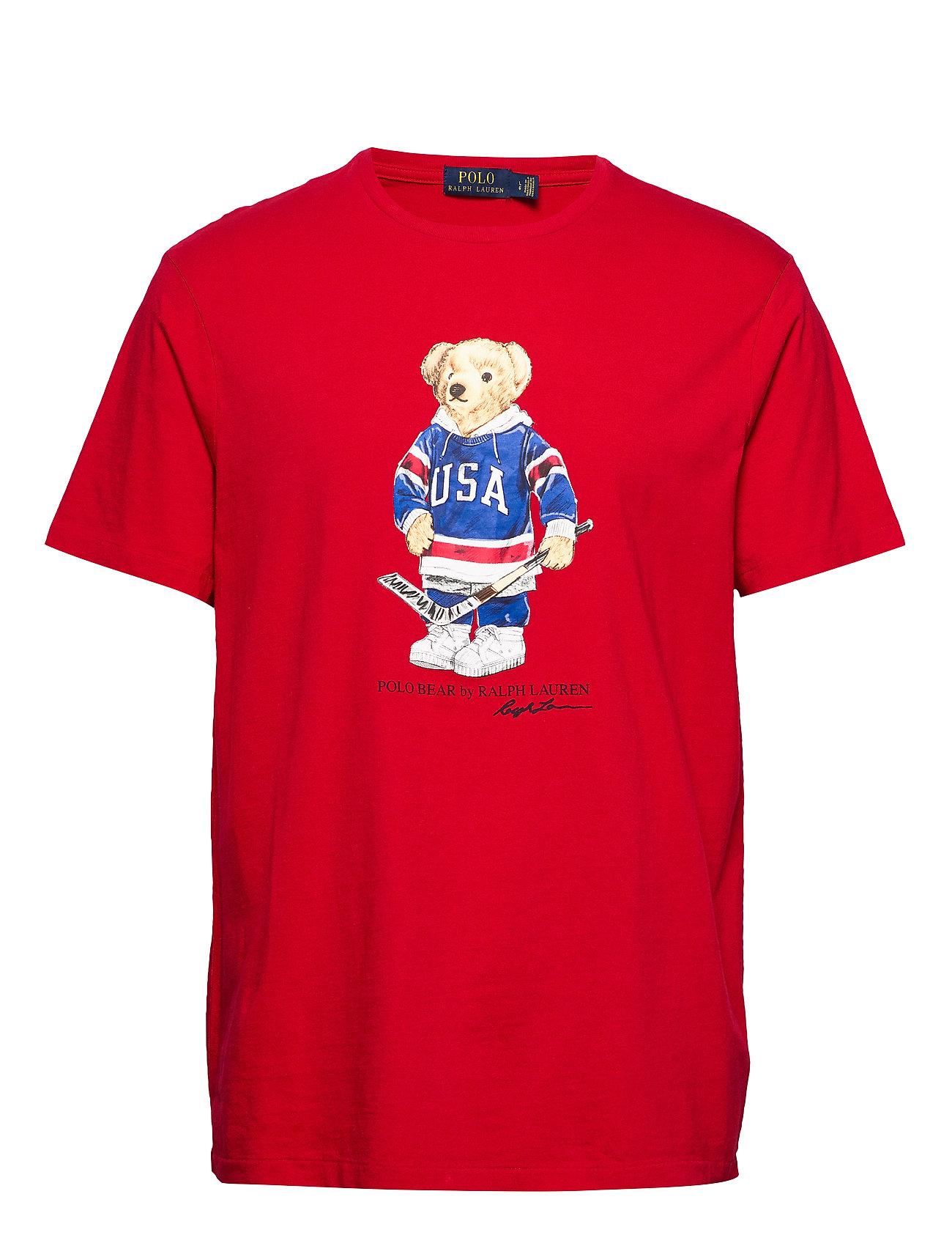 Polo Ralph Lauren Custom Slim Fit Bear T-Shirt - RL 2000 RED USA B