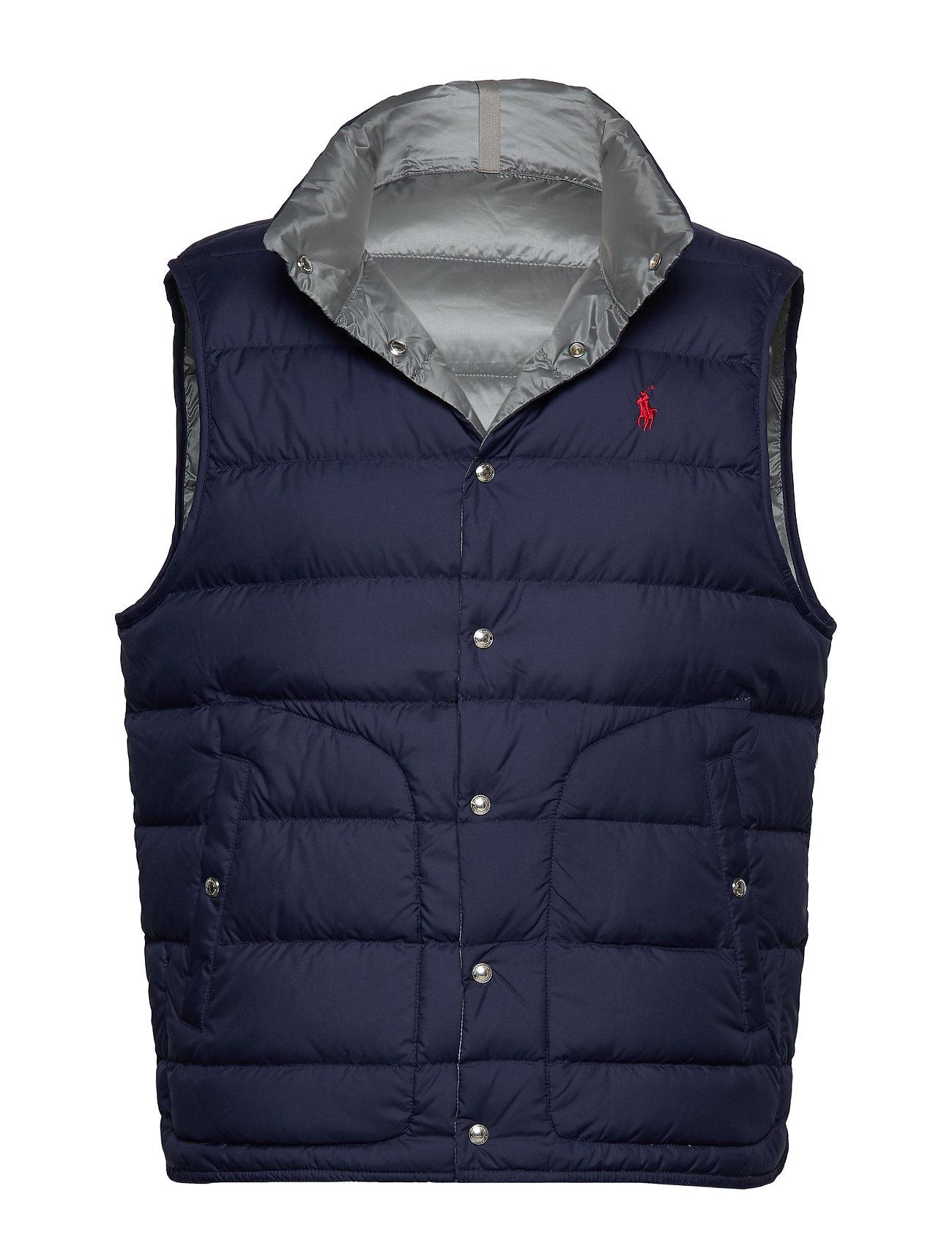 Polo Ralph Lauren Reversible Down Vest - NEWPORT NAVY/ SIL