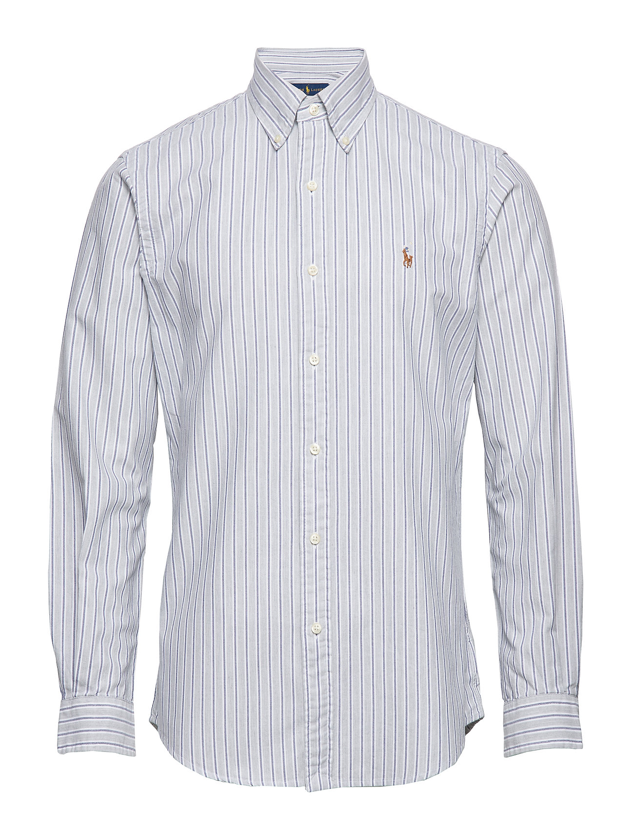 Polo Ralph Lauren Custom Fit Striped Shirt - 4331B HEATHER GRE