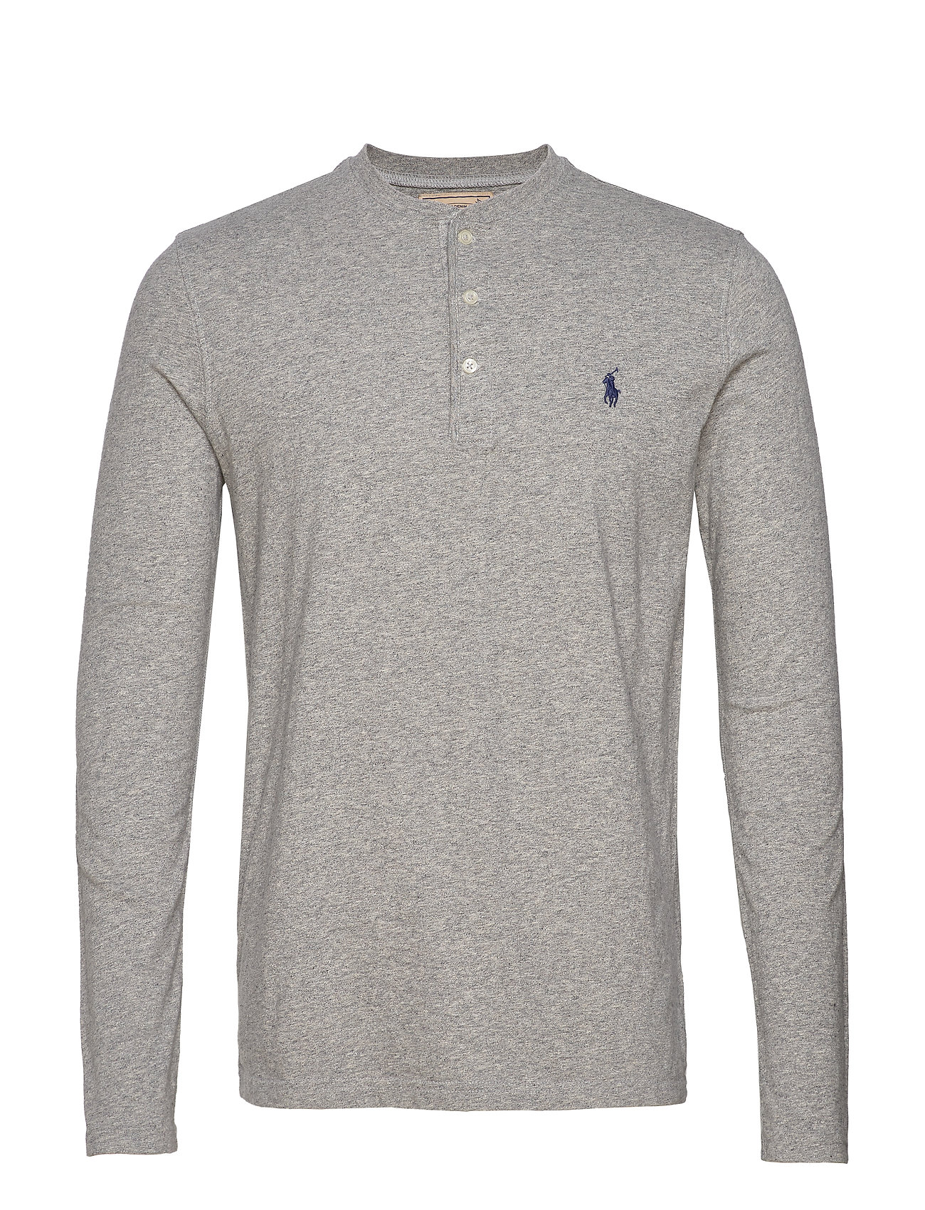 Polo Ralph Lauren Slub Jersey Henley Shirt - DARK VINTAGE HEAT