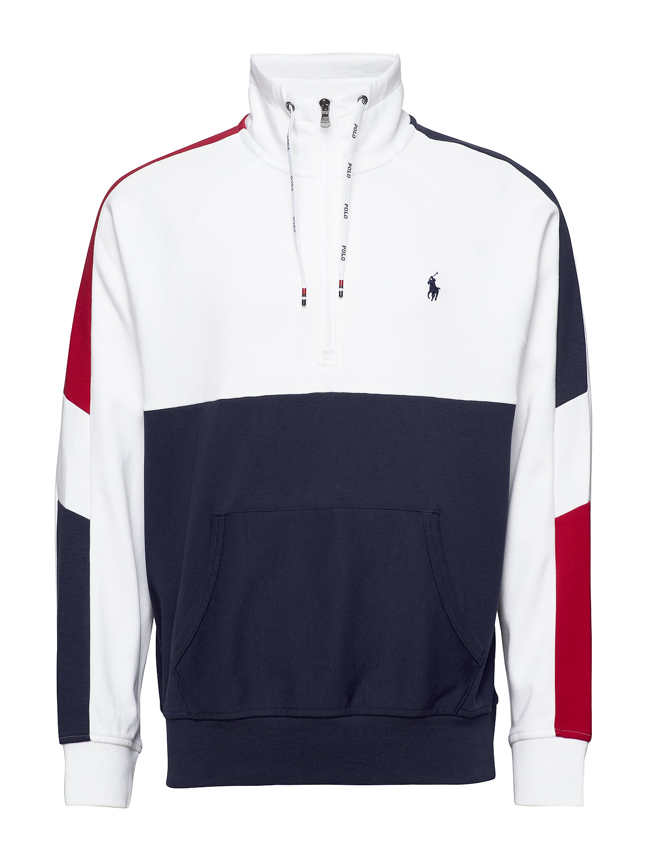 Polo Ralph Lauren Interlock Quarter-Zip Pullover - WHITE MULTI