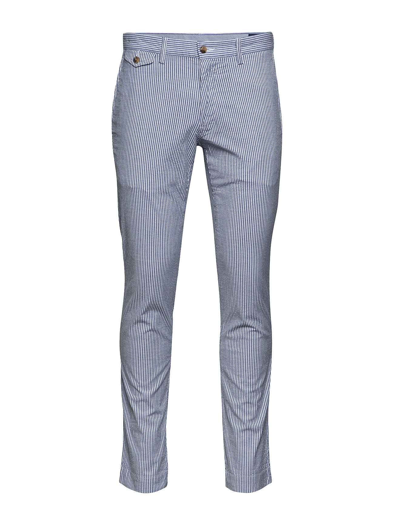 Polo Ralph Lauren SLIM FIT BEDFORD PANT - BLUE/WHITE SEERSU