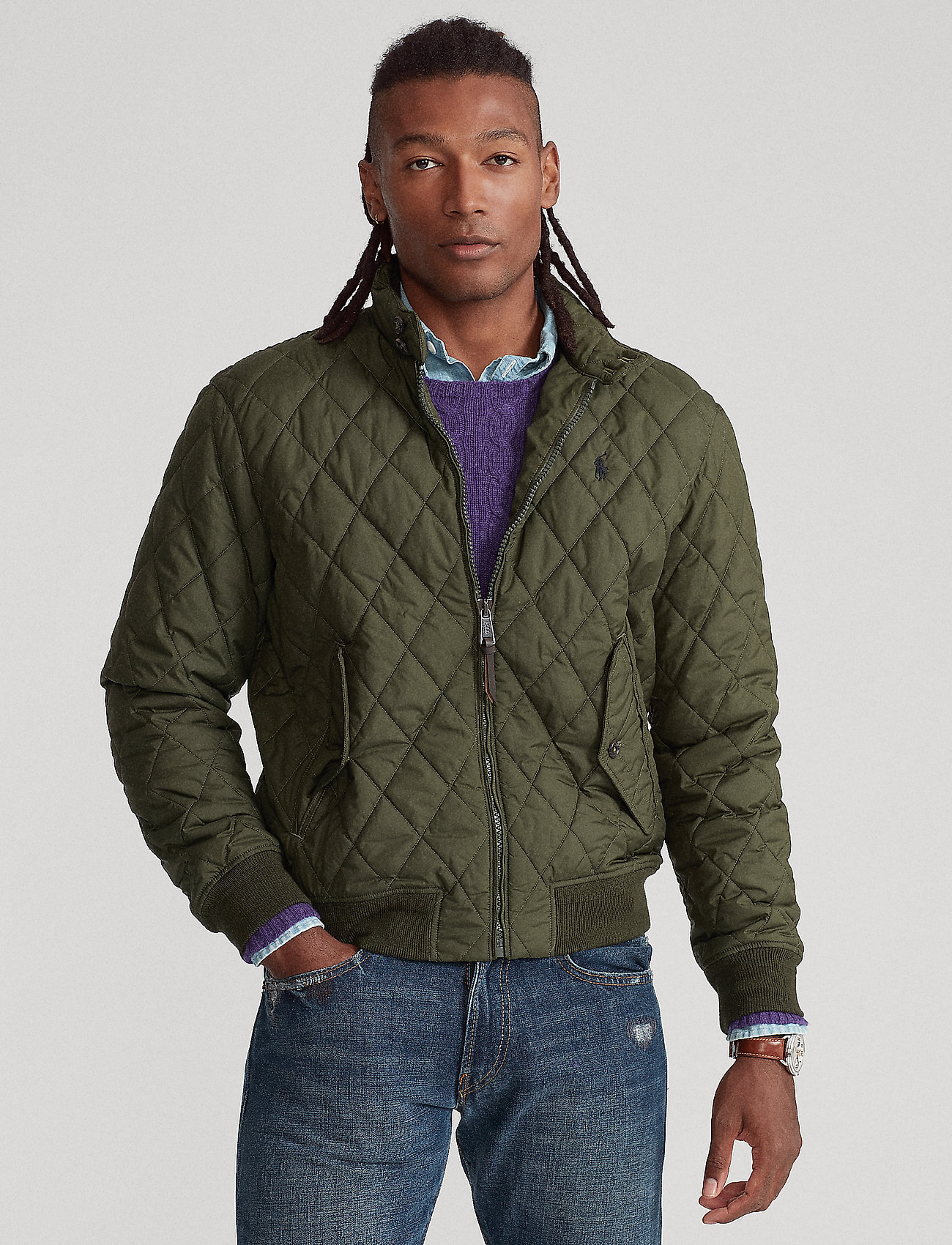 Polo Ralph Lauren - Water-Repellent Quilted Jacket - quilted jackets - company olive - 0