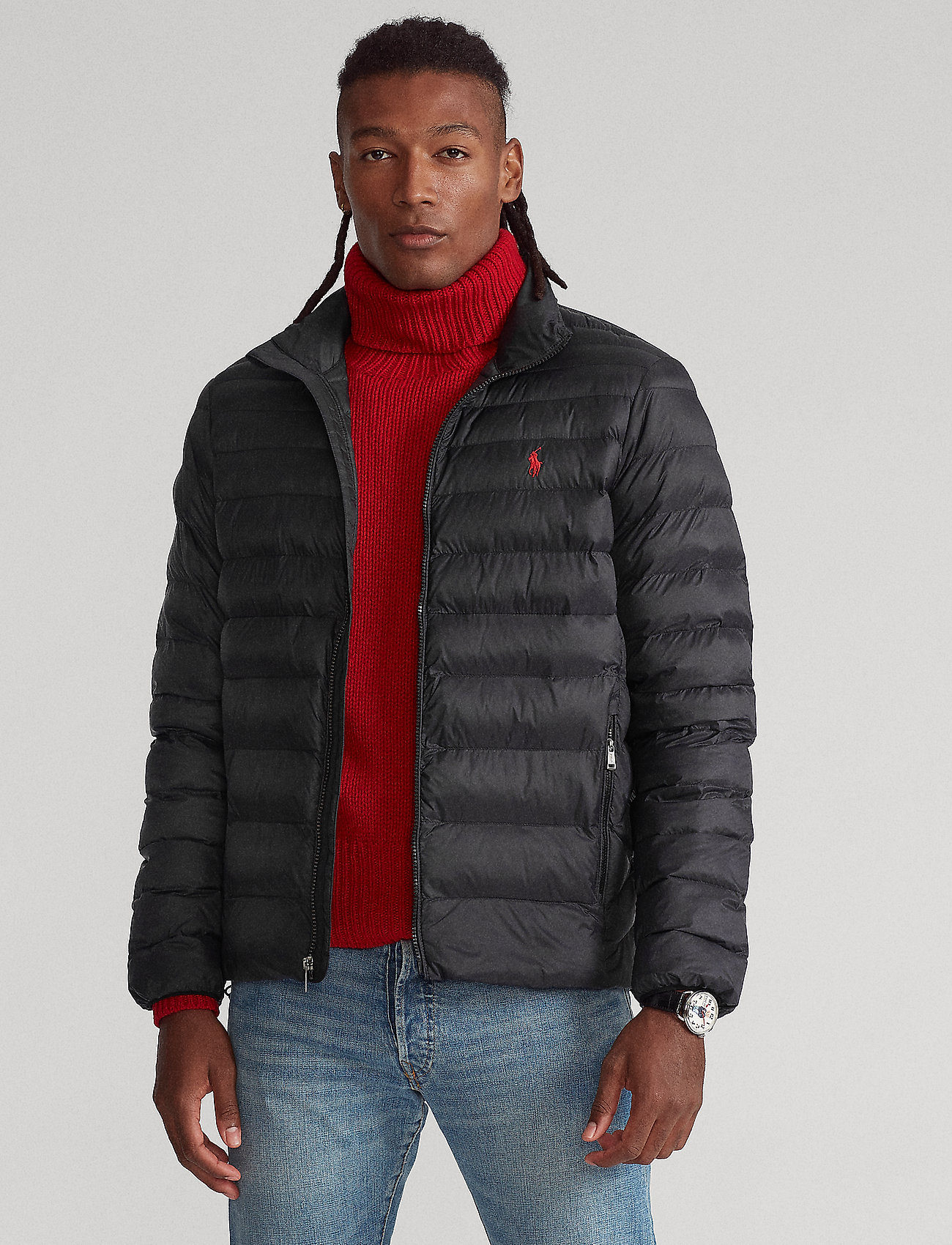 Polo Ralph Lauren - Packable Quilted Jacket - padded jackets - polo black - 0