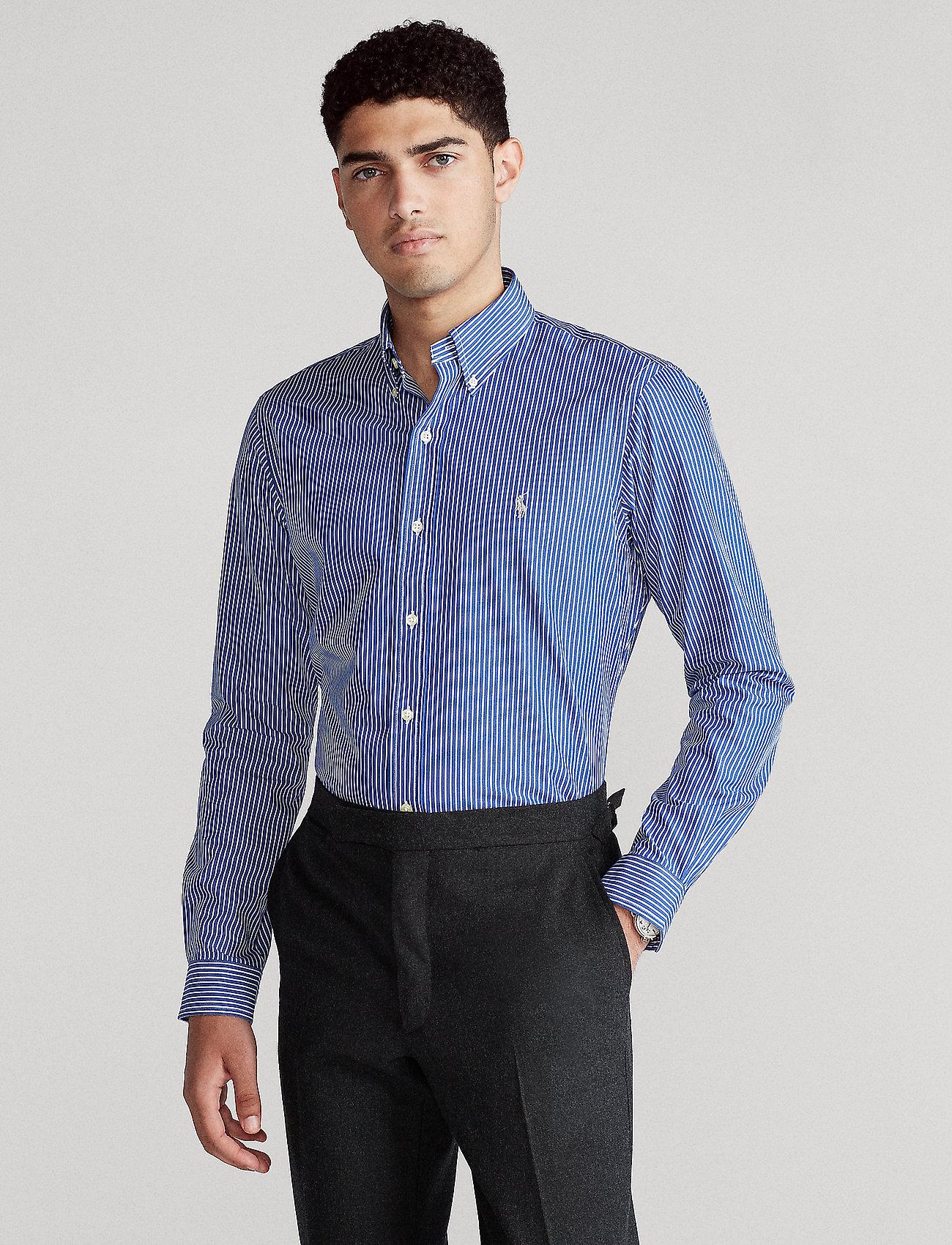 Polo Ralph Lauren - 4D STRETCH POPLIN-SLESTPPCS - business shirts - 4885a blue/white - 0