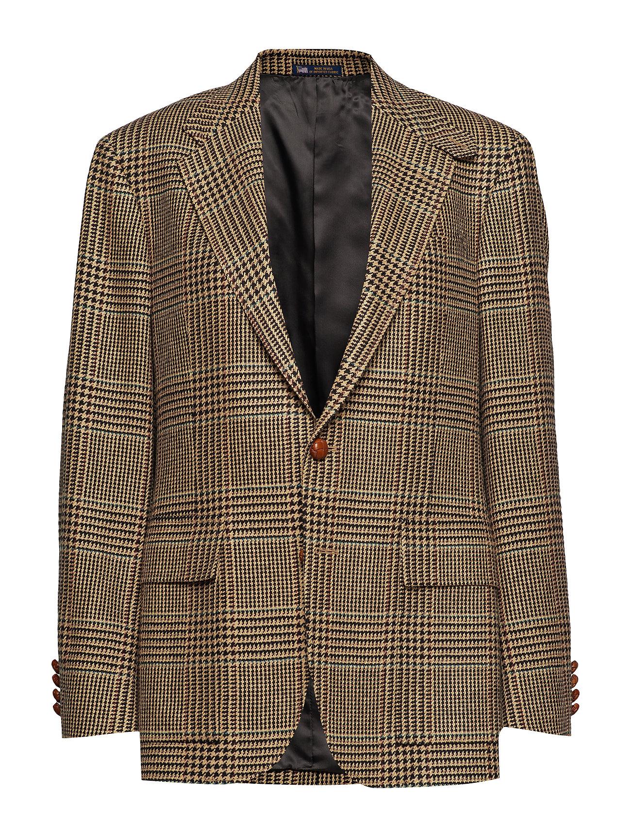 Polo Ralph Lauren The RL67 Glen Plaid Jacket - BLACK AND CREAM W