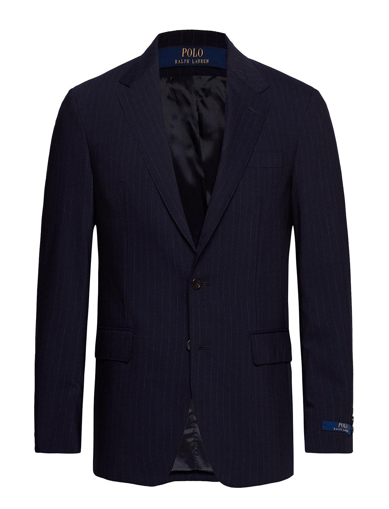 Polo Ralph Lauren Polo Wool-Blend Suit Jacket - NAVY/GREY