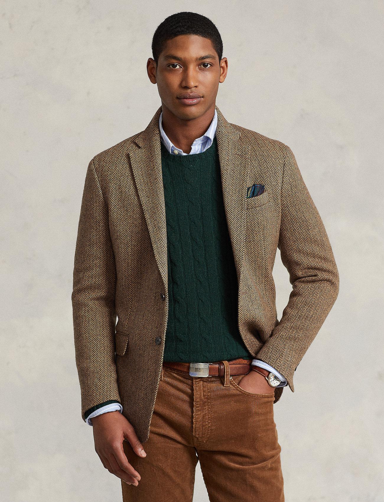 Polo Ralph Lauren - Soft Herringbone Sport Coat - enkelknäppta kavajer - brown/tan - 0