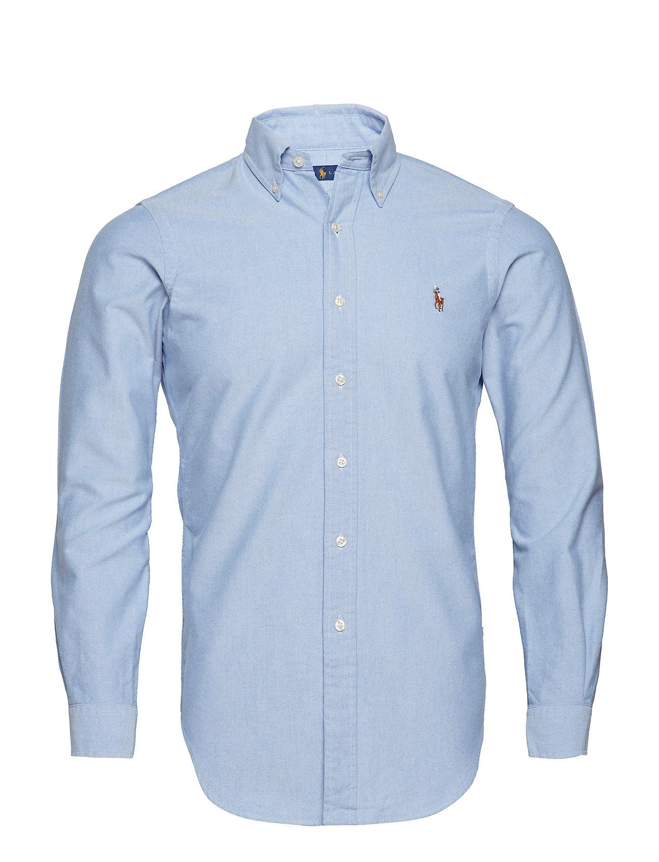6af9875a9c1e Custom Fit Cotton Oxford Shirt (Blue) (£85) - Polo Ralph Lauren ...