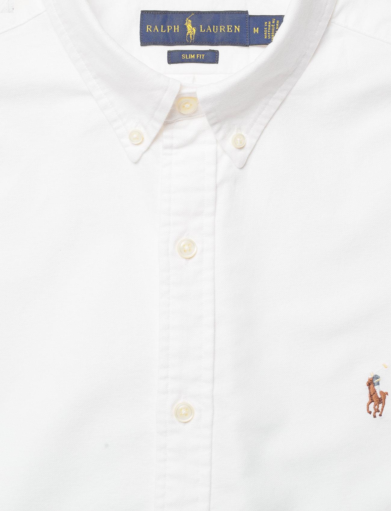 Slim Cotton Fit Oxford Lauren ShirtwhitePolo Ralph D9IE2H