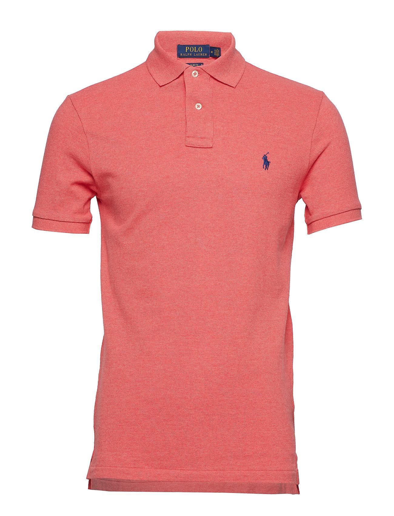 Polo Ralph Lauren Slim Fit Mesh Polo Shirt - HIGHLAND ROSE HEA